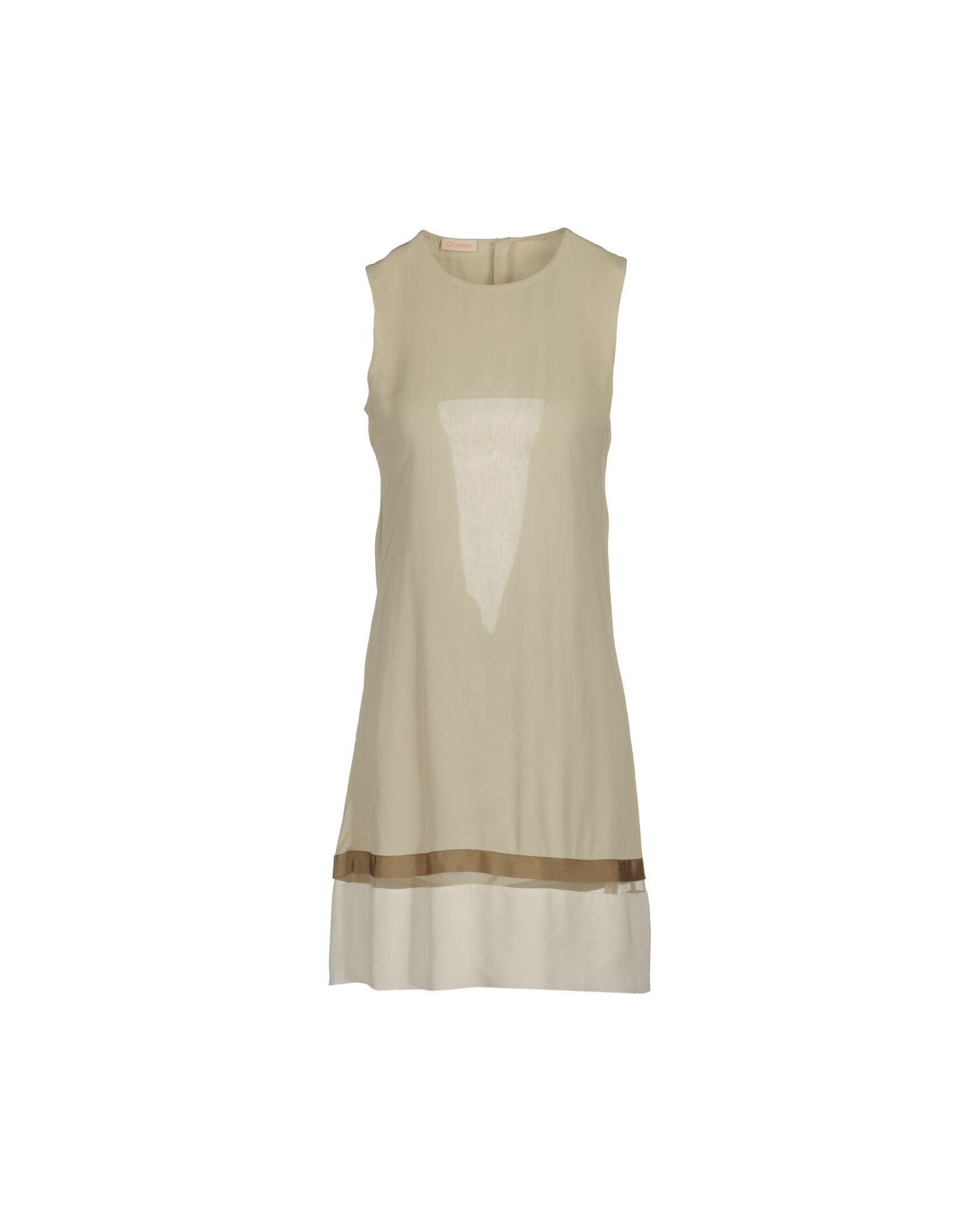 DRESSES Woman Cruciani Ivory Viscose