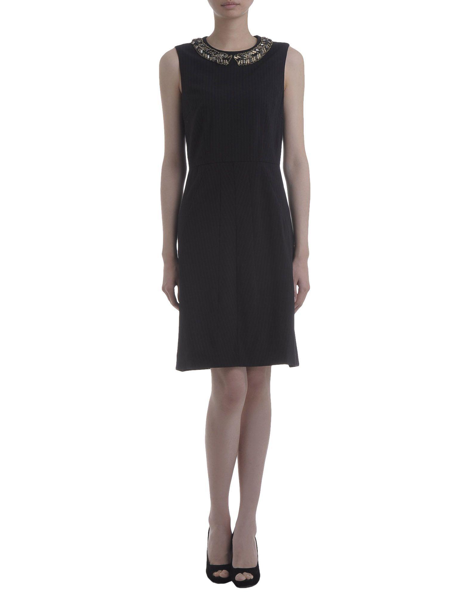 Marni Black Wool Sleeveless Dress
