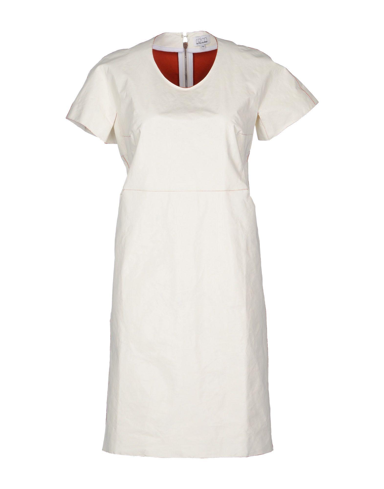 Dress Rdm By Rue Du Mail White Women's Polyurethane
