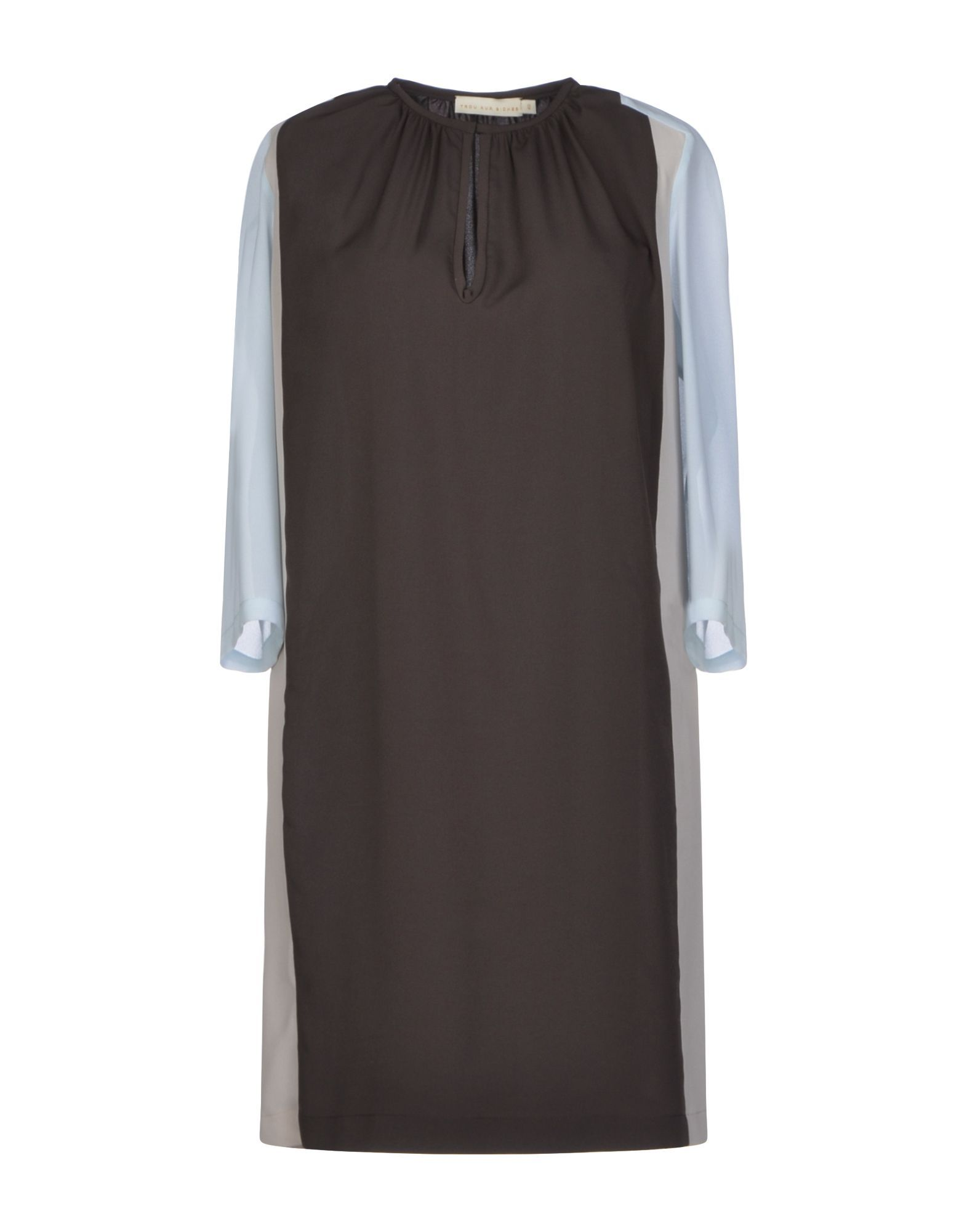 DRESSES Trou Aux Biches Dark brown Woman Polyester