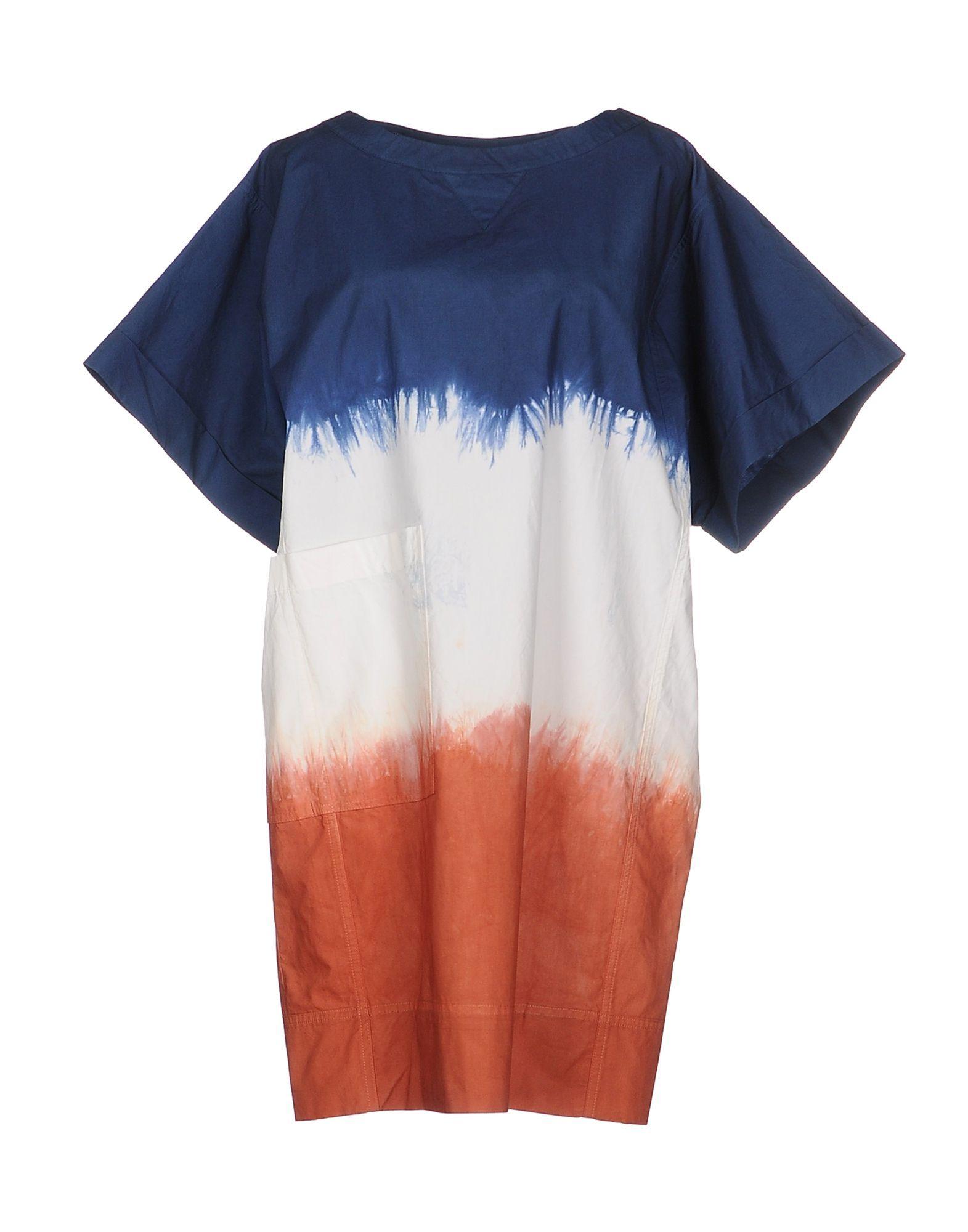 Douuod Slate Blue Stripe Cotton T-Shirt Dress