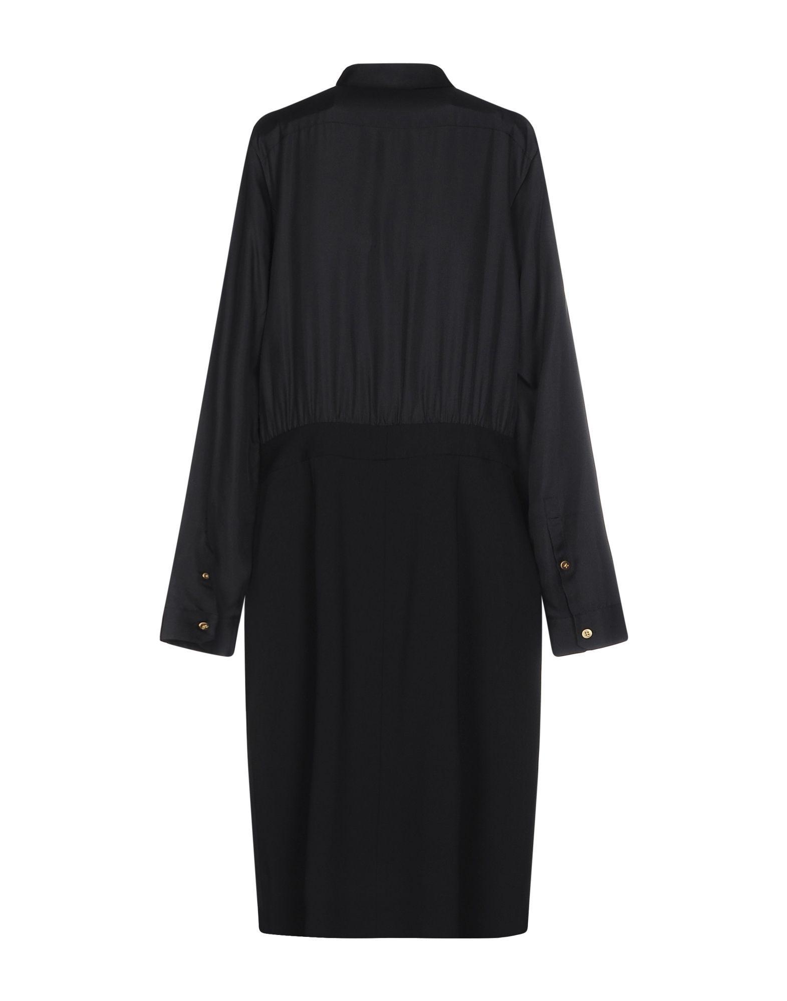 Diane Von Furstenberg Black Silk Dress