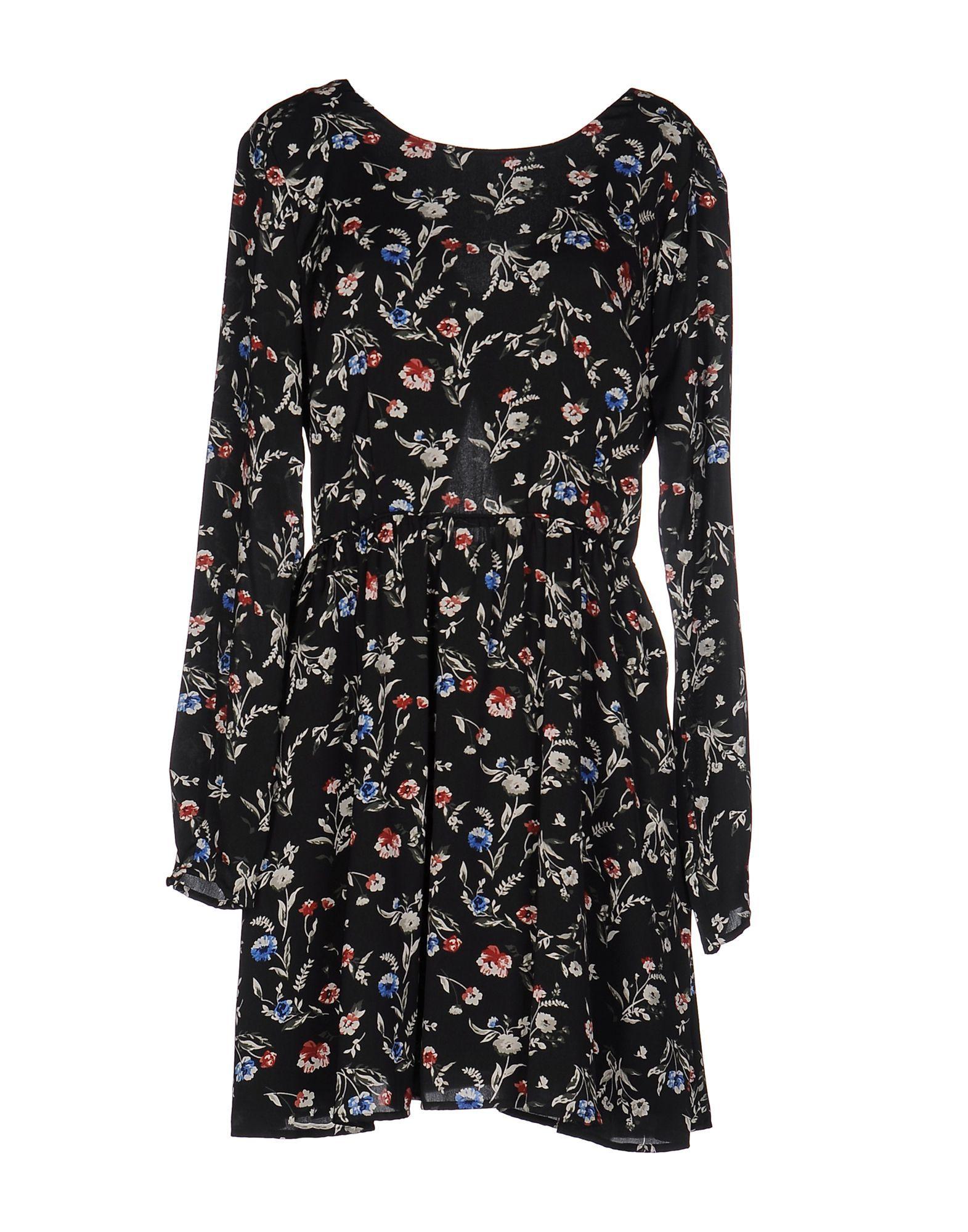 Pepe Jeans Black Print Long Sleeve Dress