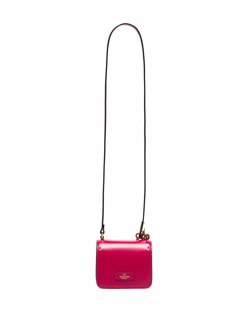 VALENTINO WOMEN'S TW0B0G44HFBMF5 FUCHSIA LEATHER SHOULDER BAG