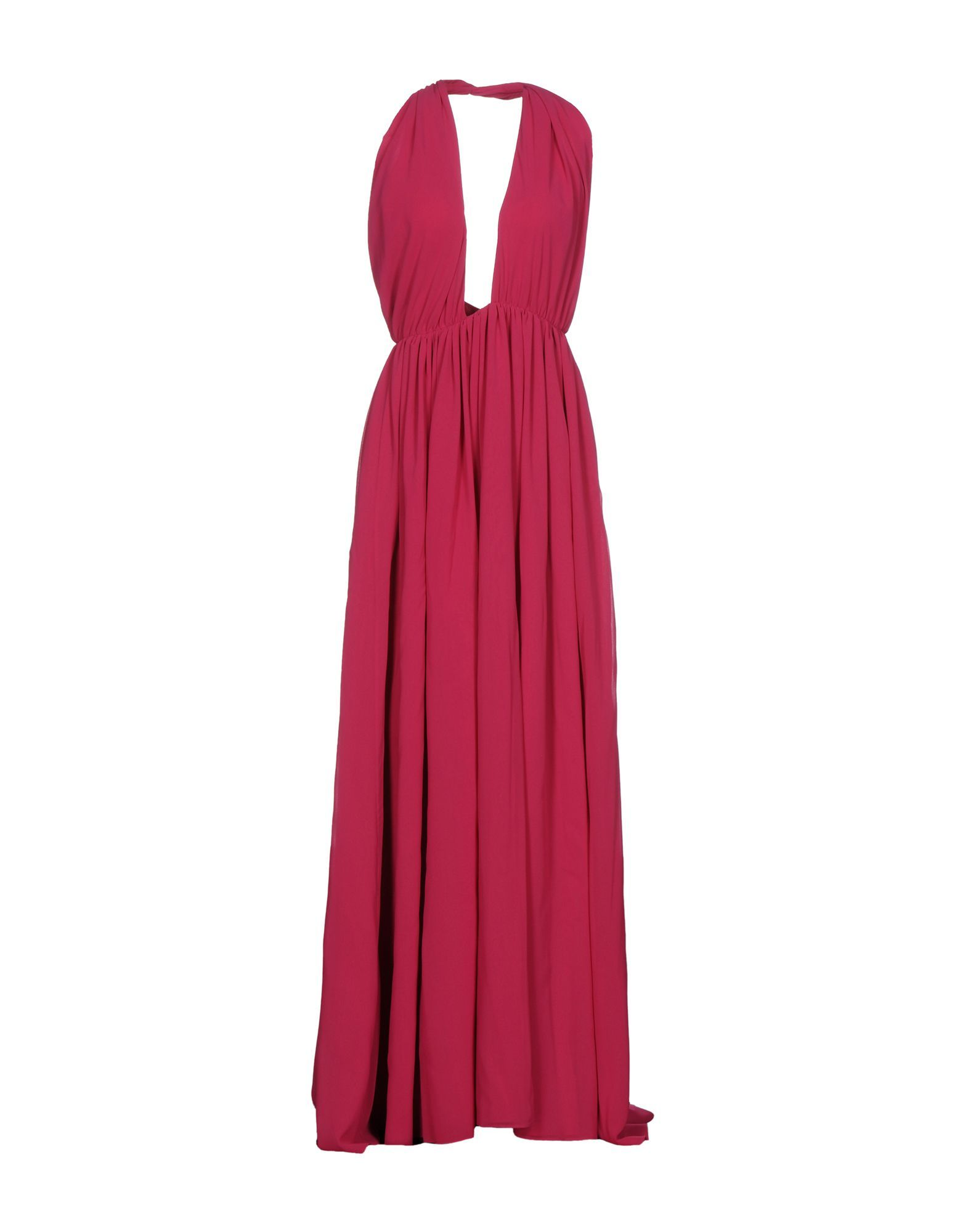 MSGM Garnet Empire Line Full Length Dress