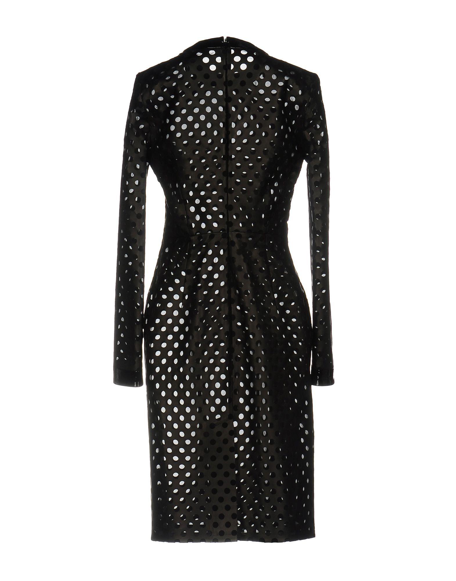 Tom Ford Black Lambskin Leather Long Sleeve Dress