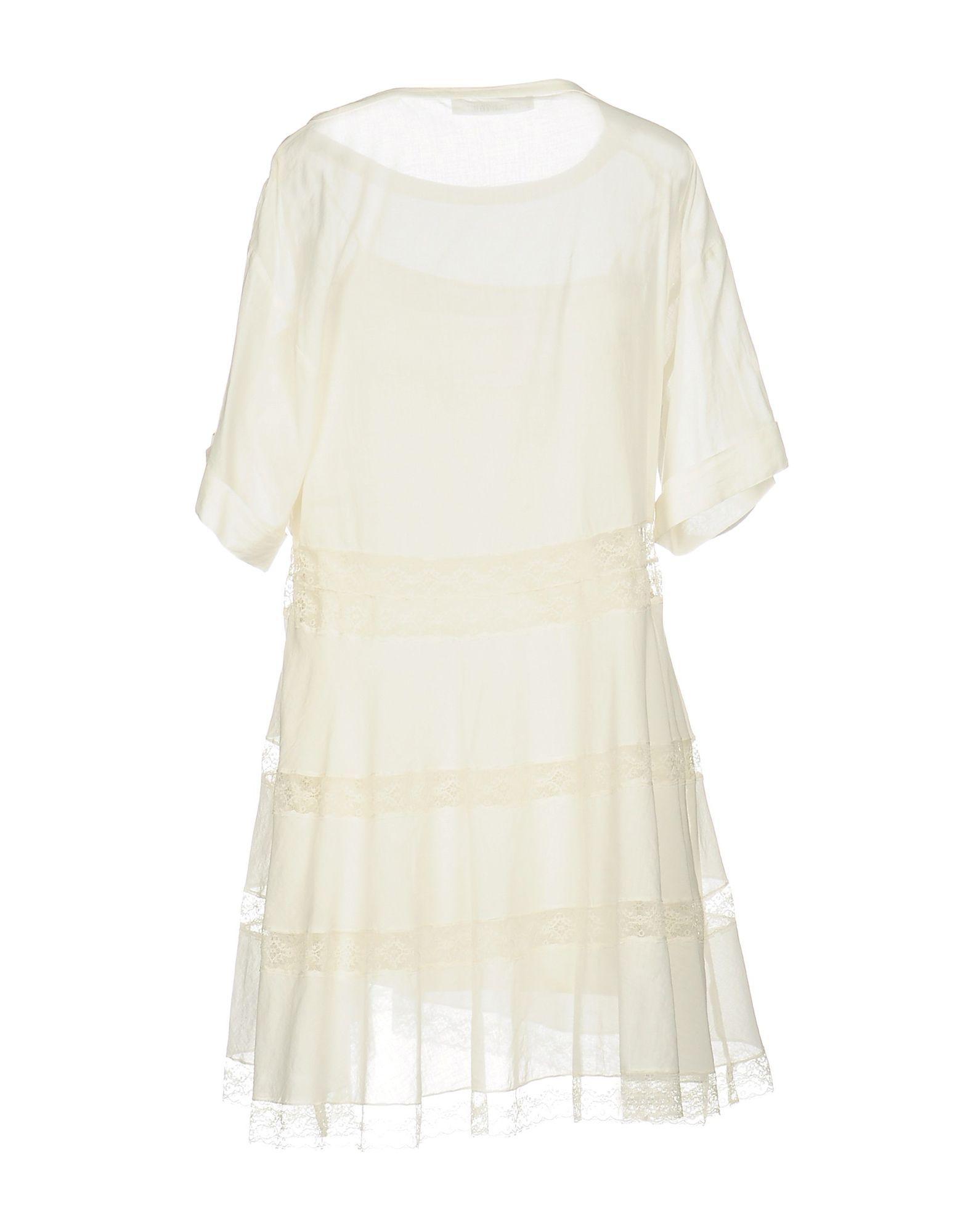 Philosophy Di Lorenzo Serafini Ivory Cotton Lace Dress