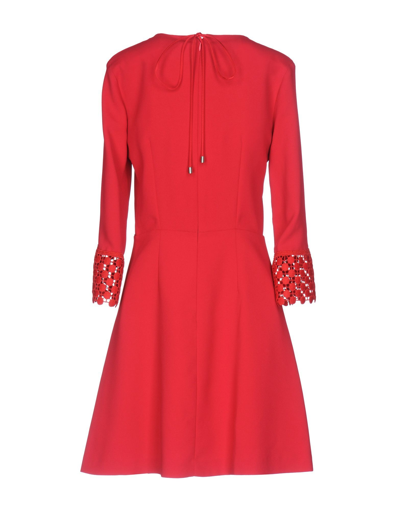 Pinko Red Long Sleeve Dress