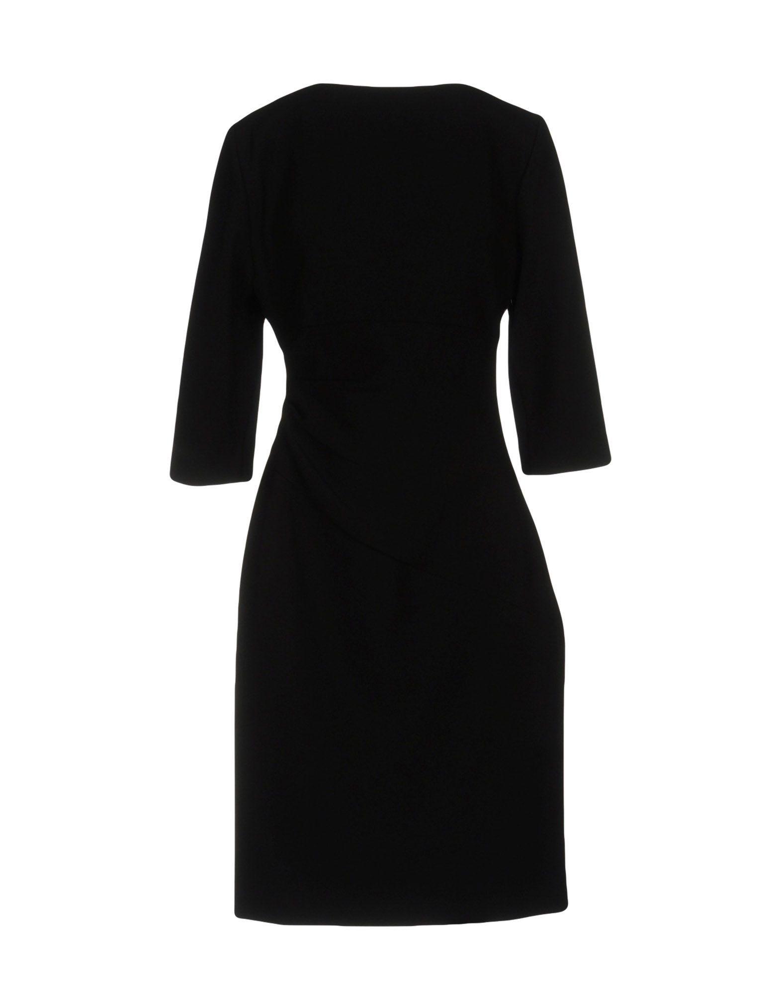Diane Von Furstenberg Black Three Quarter Sleeve Dress