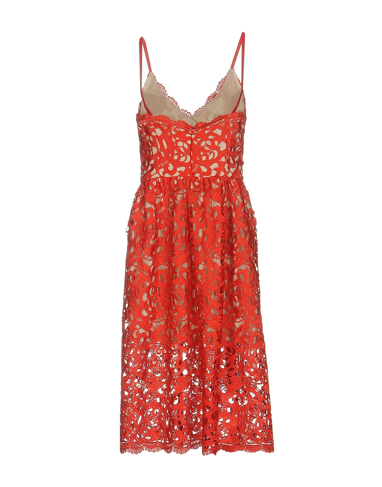Maiocci Red Cotton Lace Dress