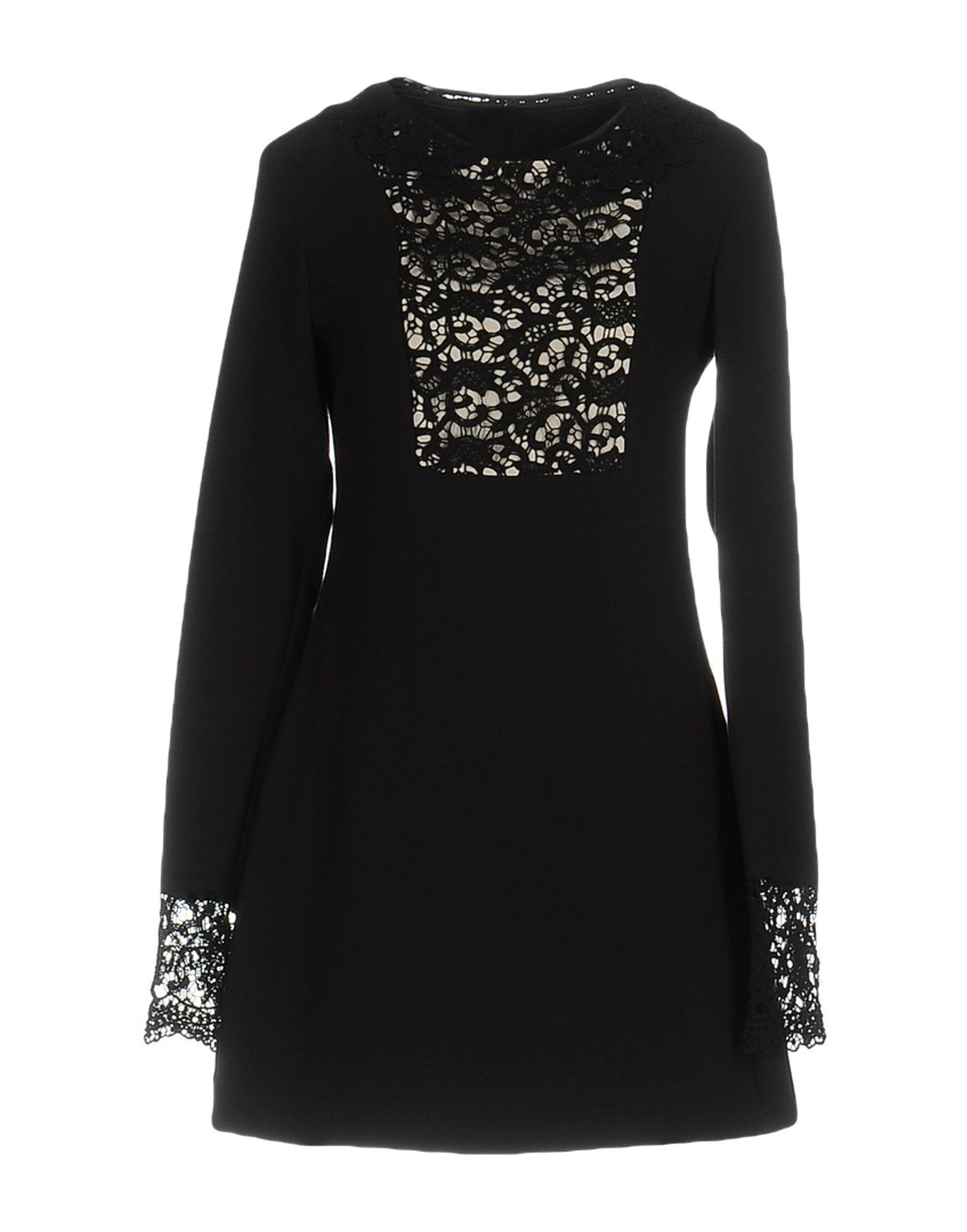 Scee By Twinset Black Lace Long Sleeve Dress