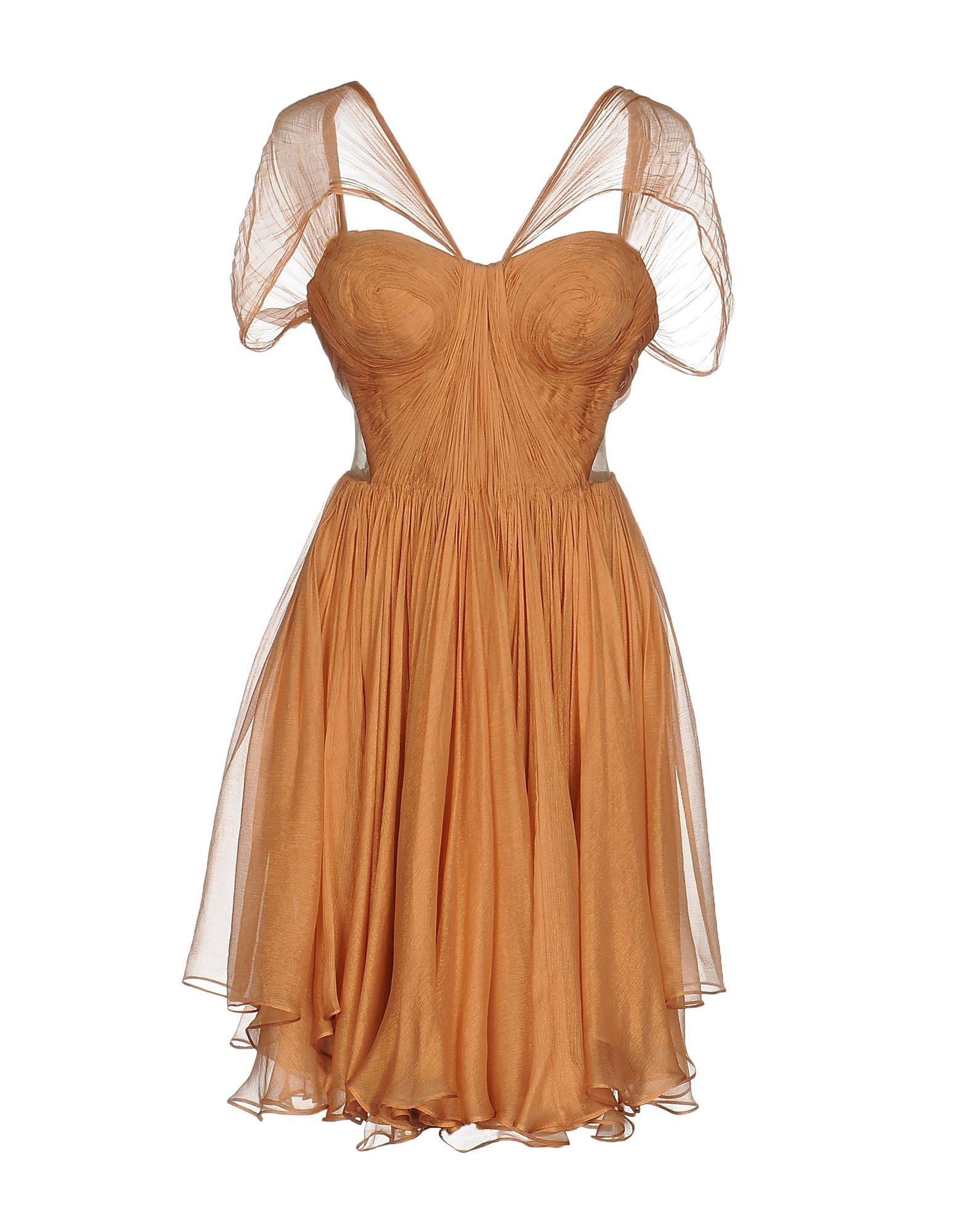 Dress Maria Lucia Hohan Apricot Women's Silk