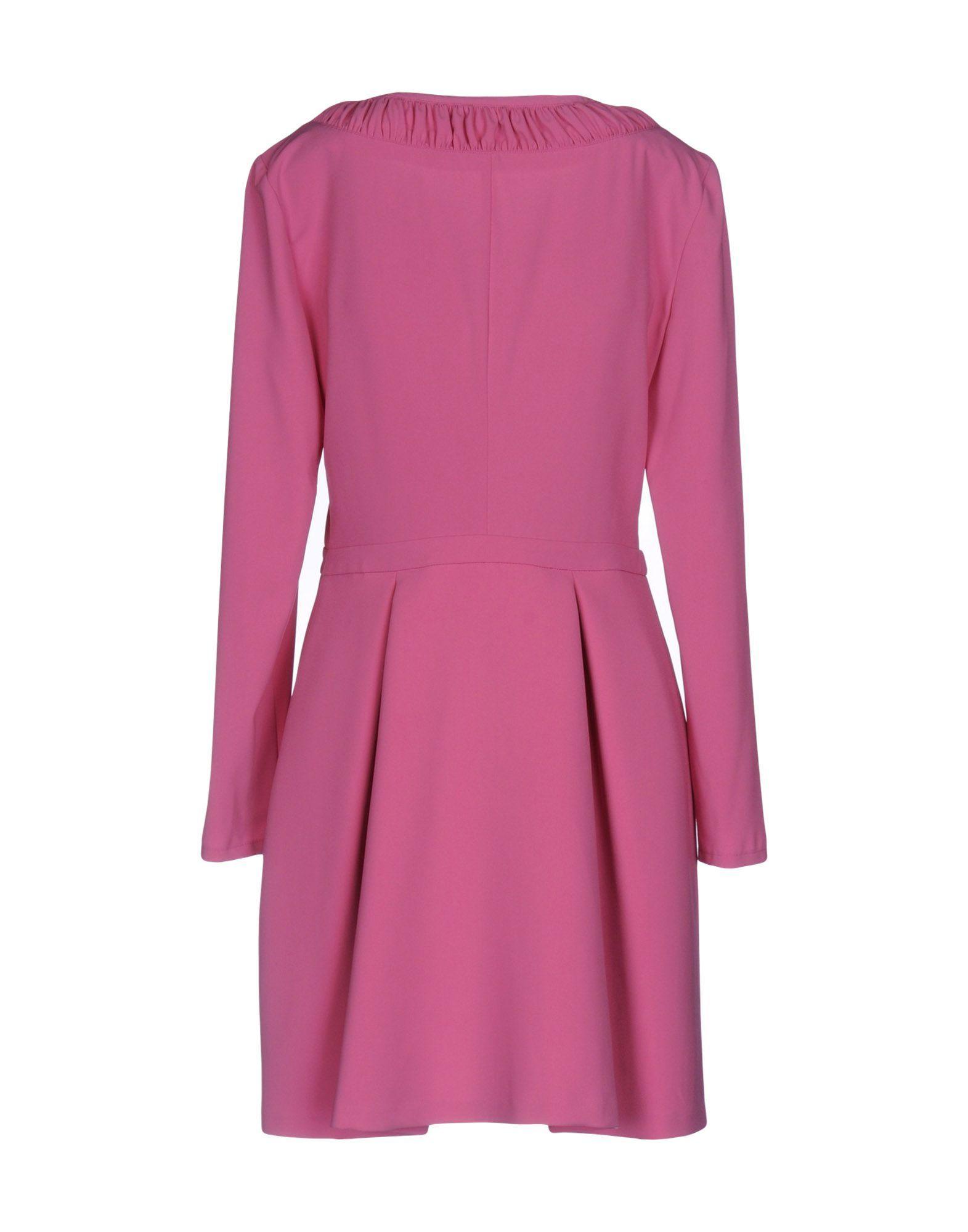Patrizia Pepe Fuchsia Long Sleeve Dress