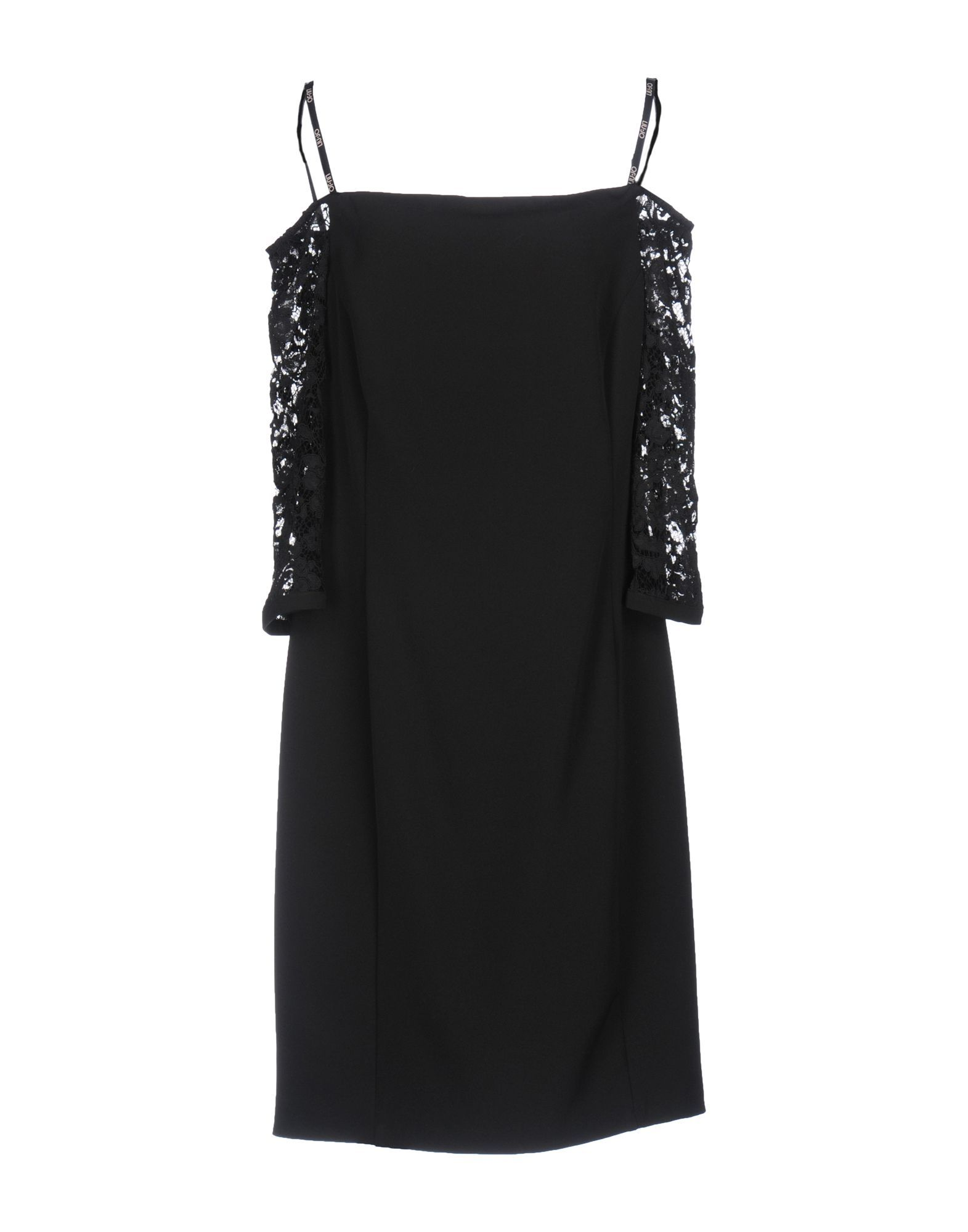 Liu Jo Black Lace Crepe Dress