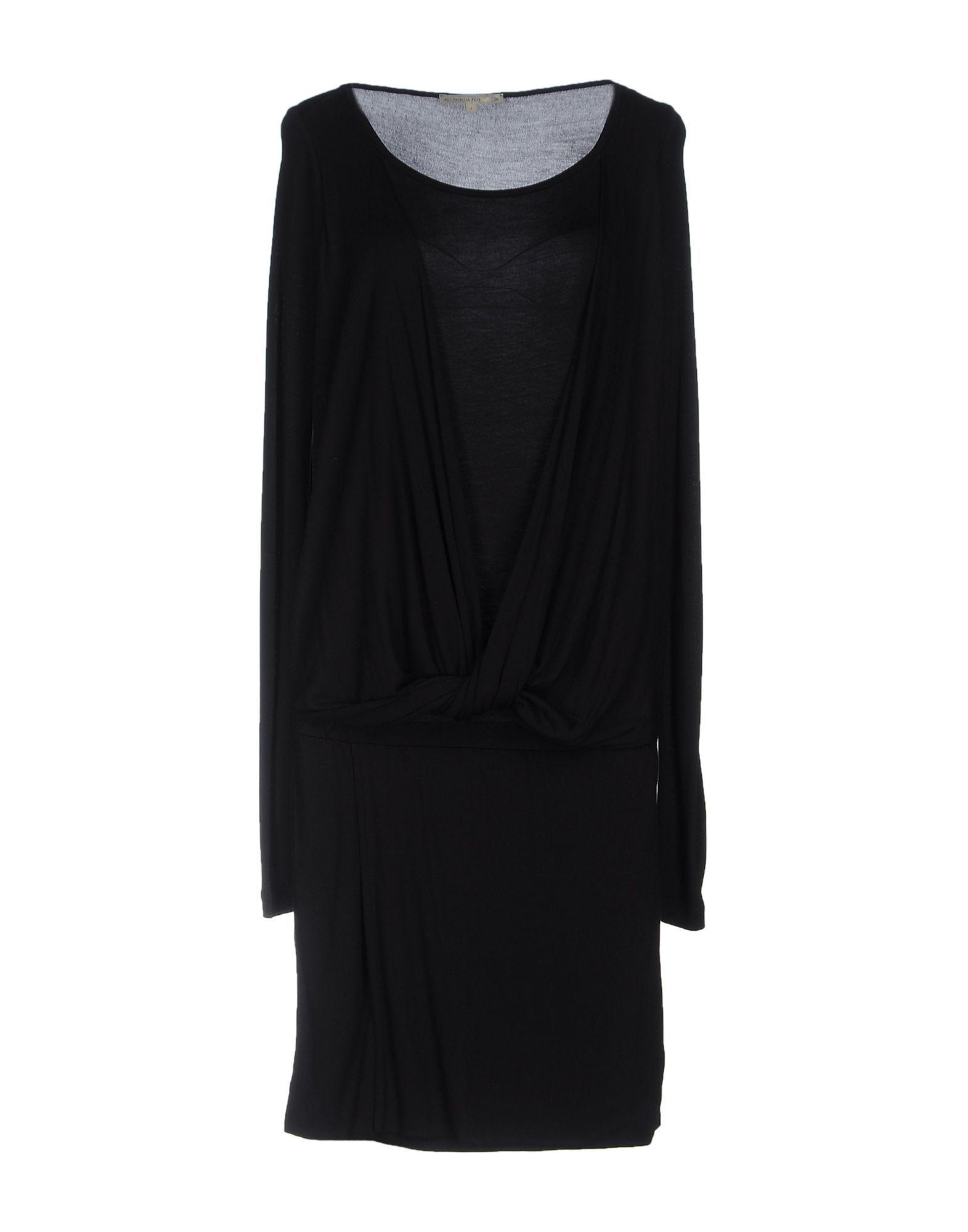 DRESSES Patrizia Pepe Black Woman Viscose