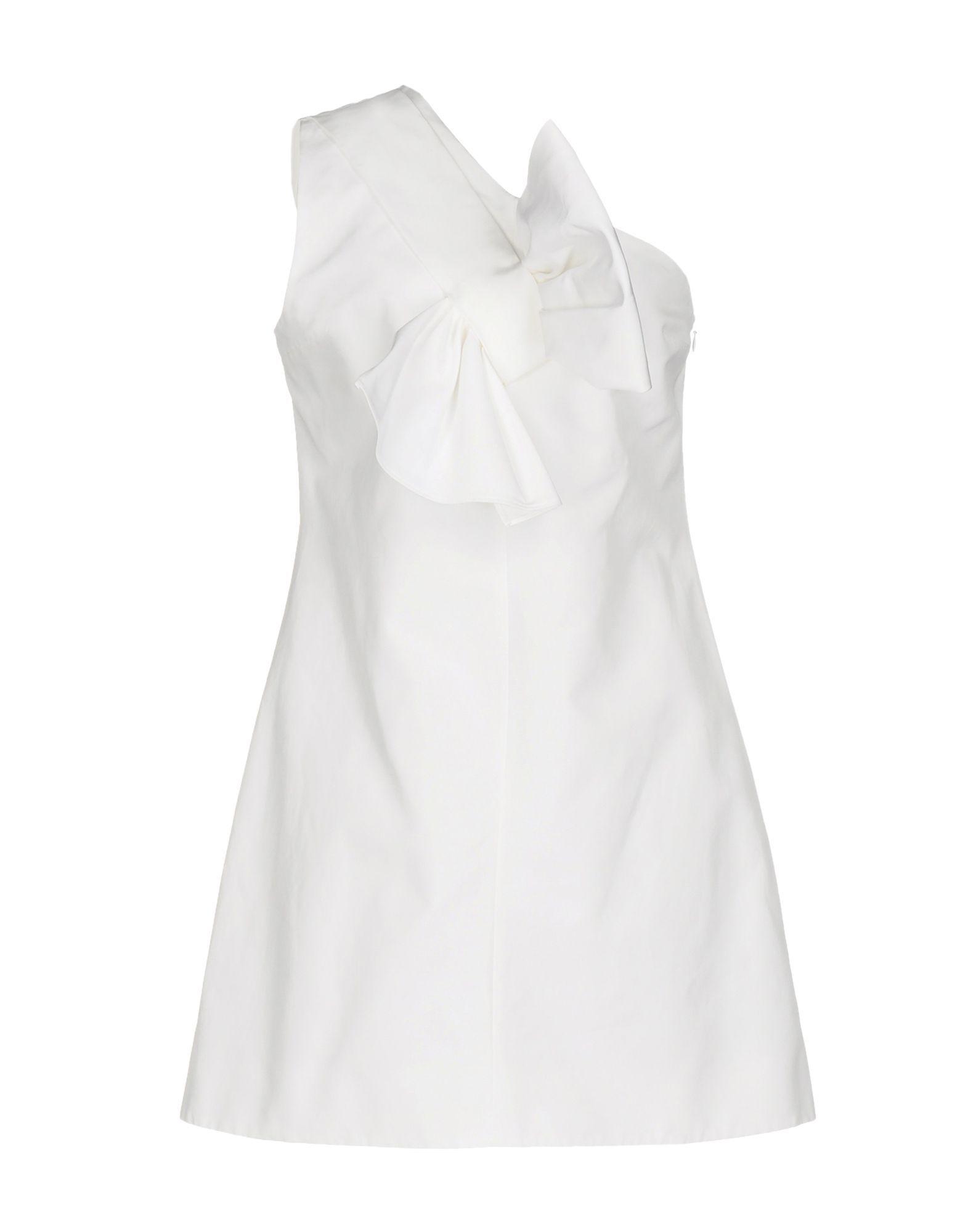 Victoria Beckham White Sleeveless Dress