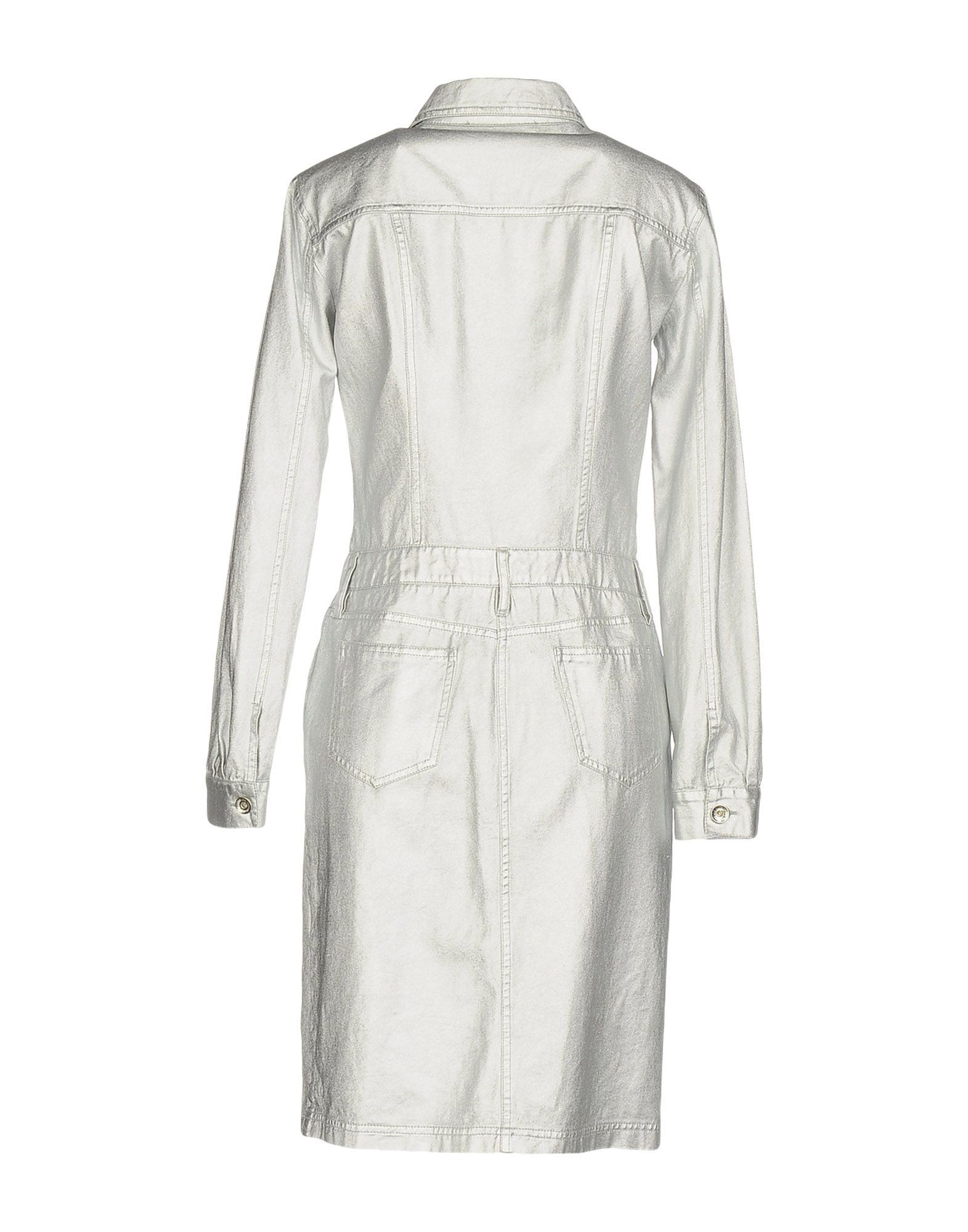 Love Moschino Silver Denim Shirt Style Dress