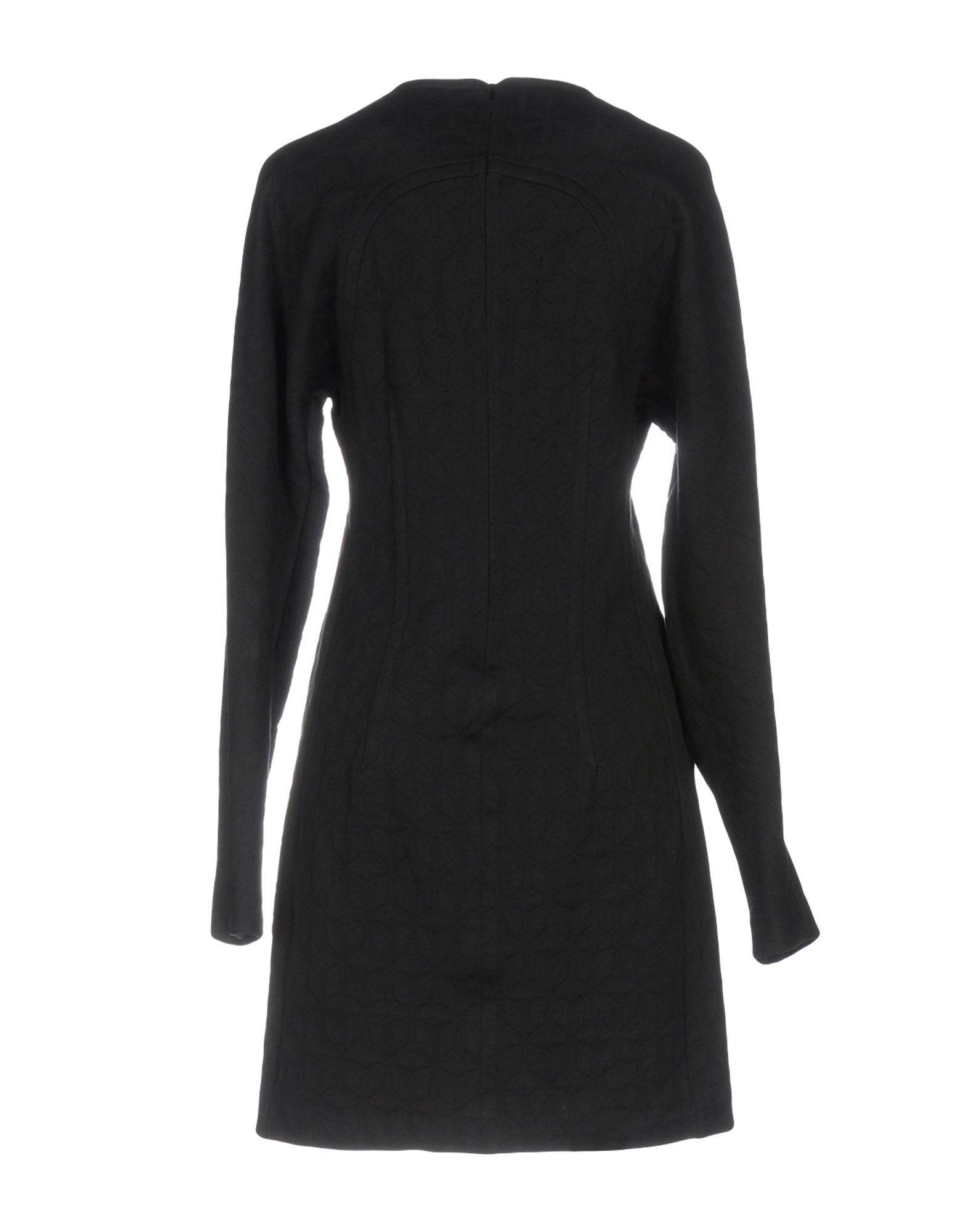 Mauro Grifoni Black Cotton Long Sleeve Dress