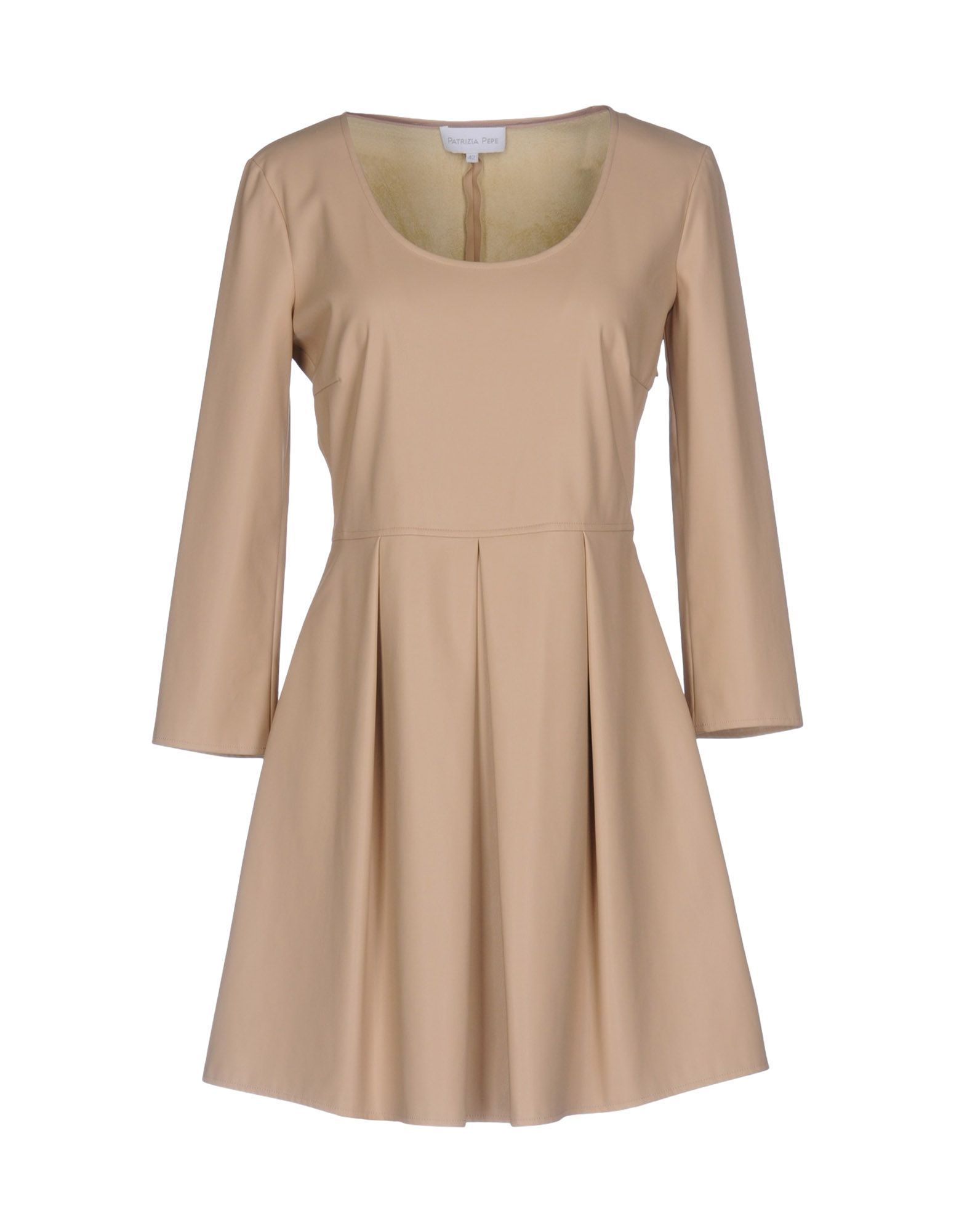 Patrizia Pepe Beige Faux Leather Dress