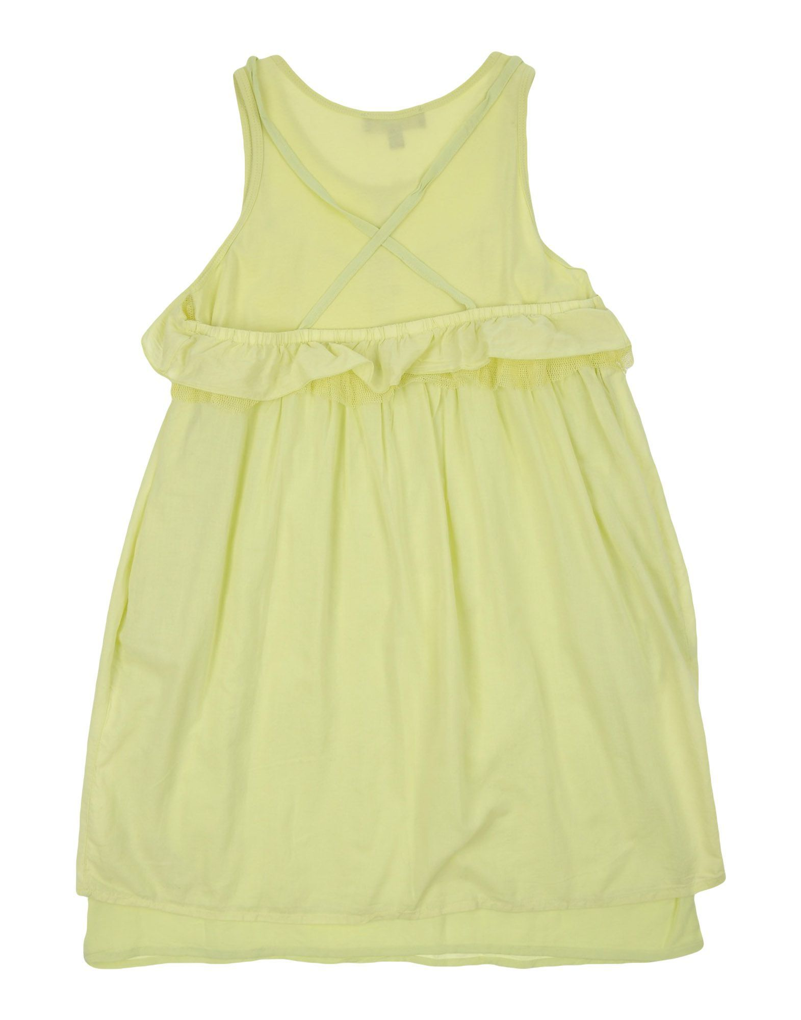 DRESSES Girl Twinset Light green Cotton