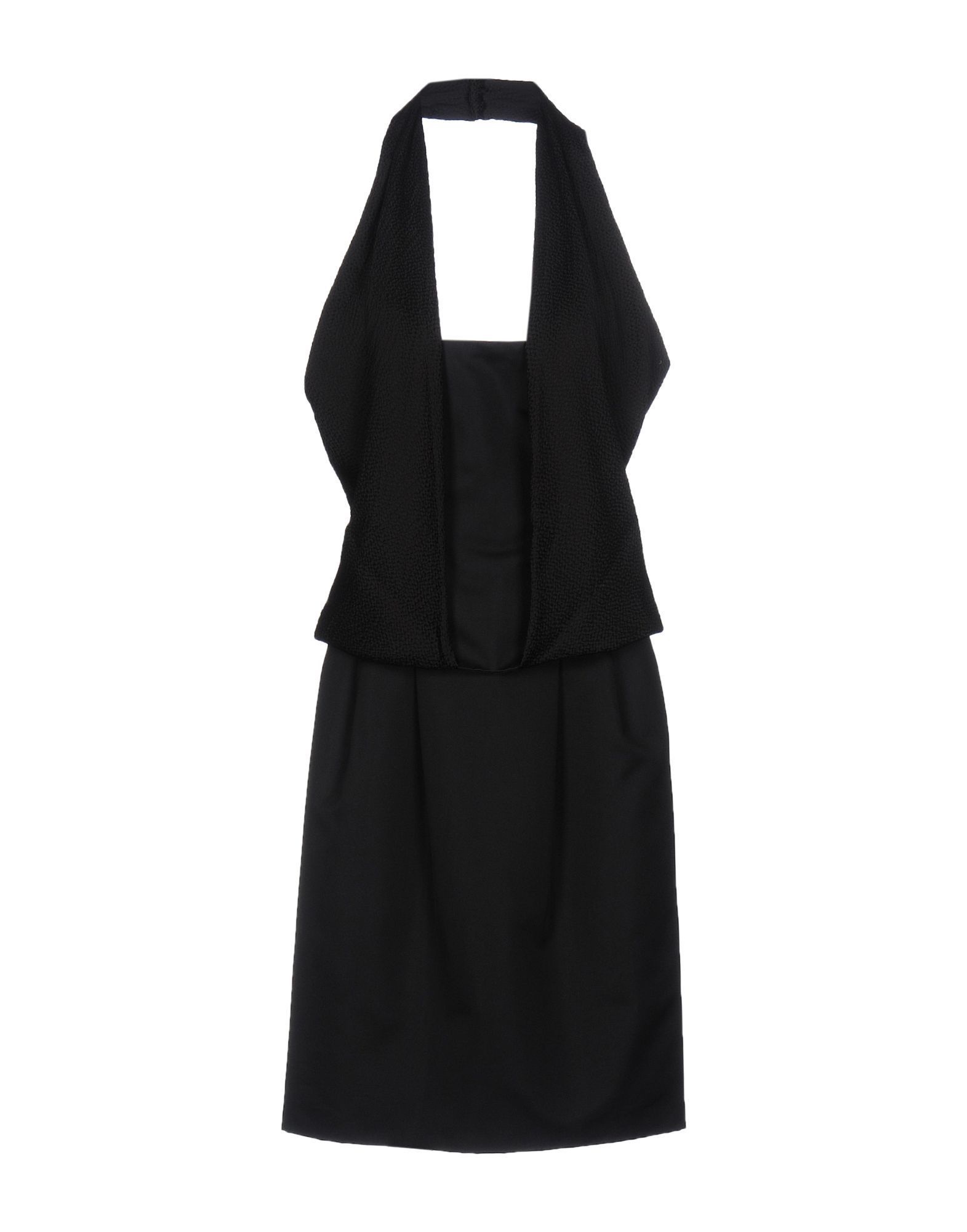 Pianoforte Di Max Mara Black Crepe Dress