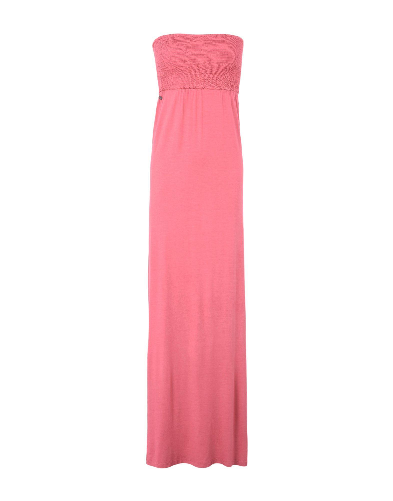 Manila Grace Denim Coral Jersey Strapless Dress