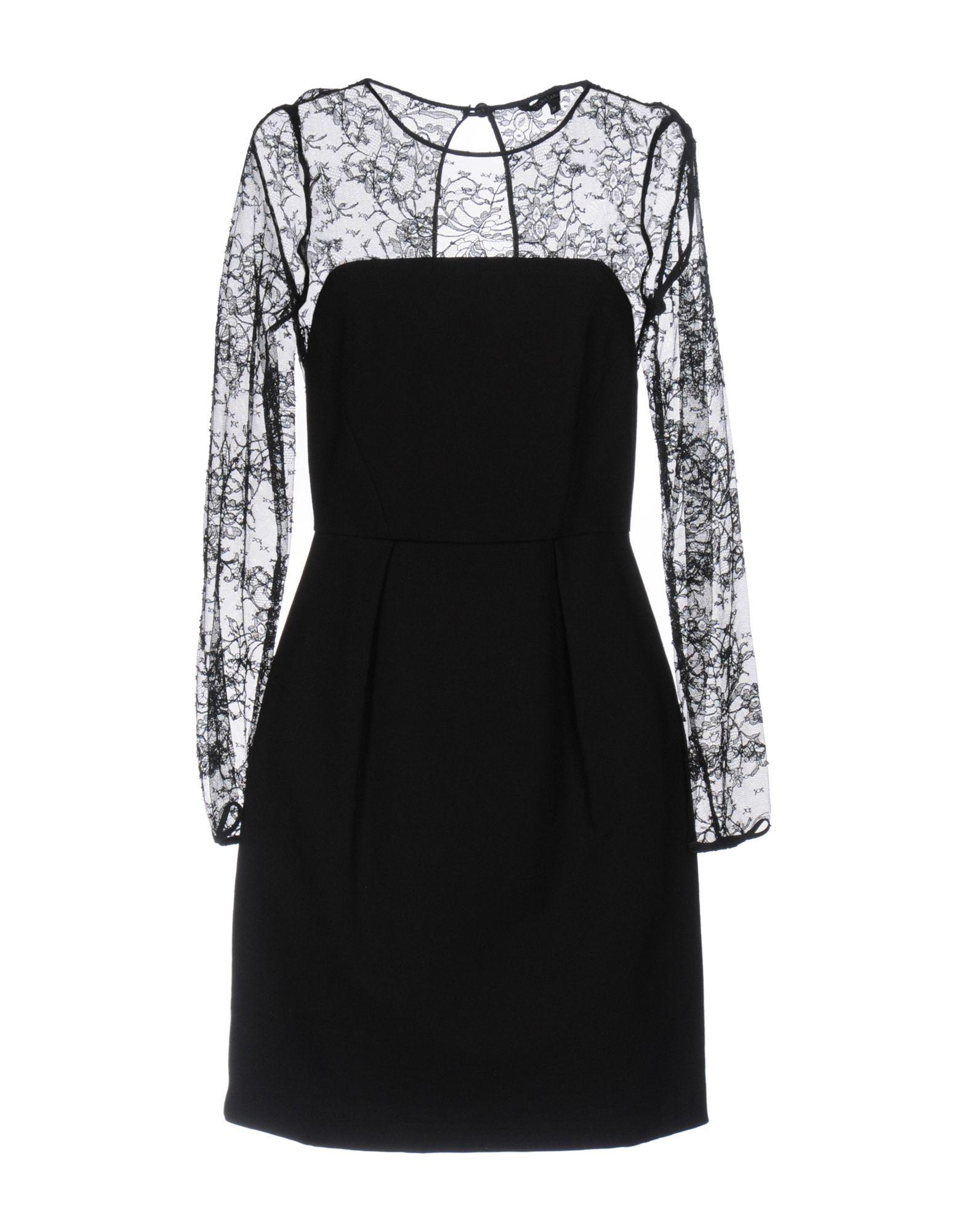 Tara Jarmon Black Jersey And Lace Dress