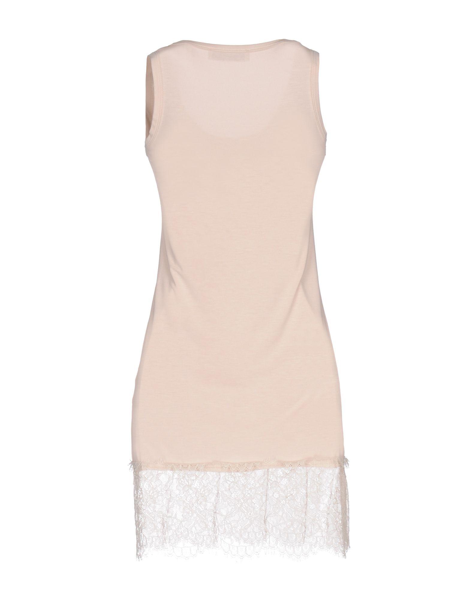 Kaos Pink Jersey And Lace Sleeveless Dress