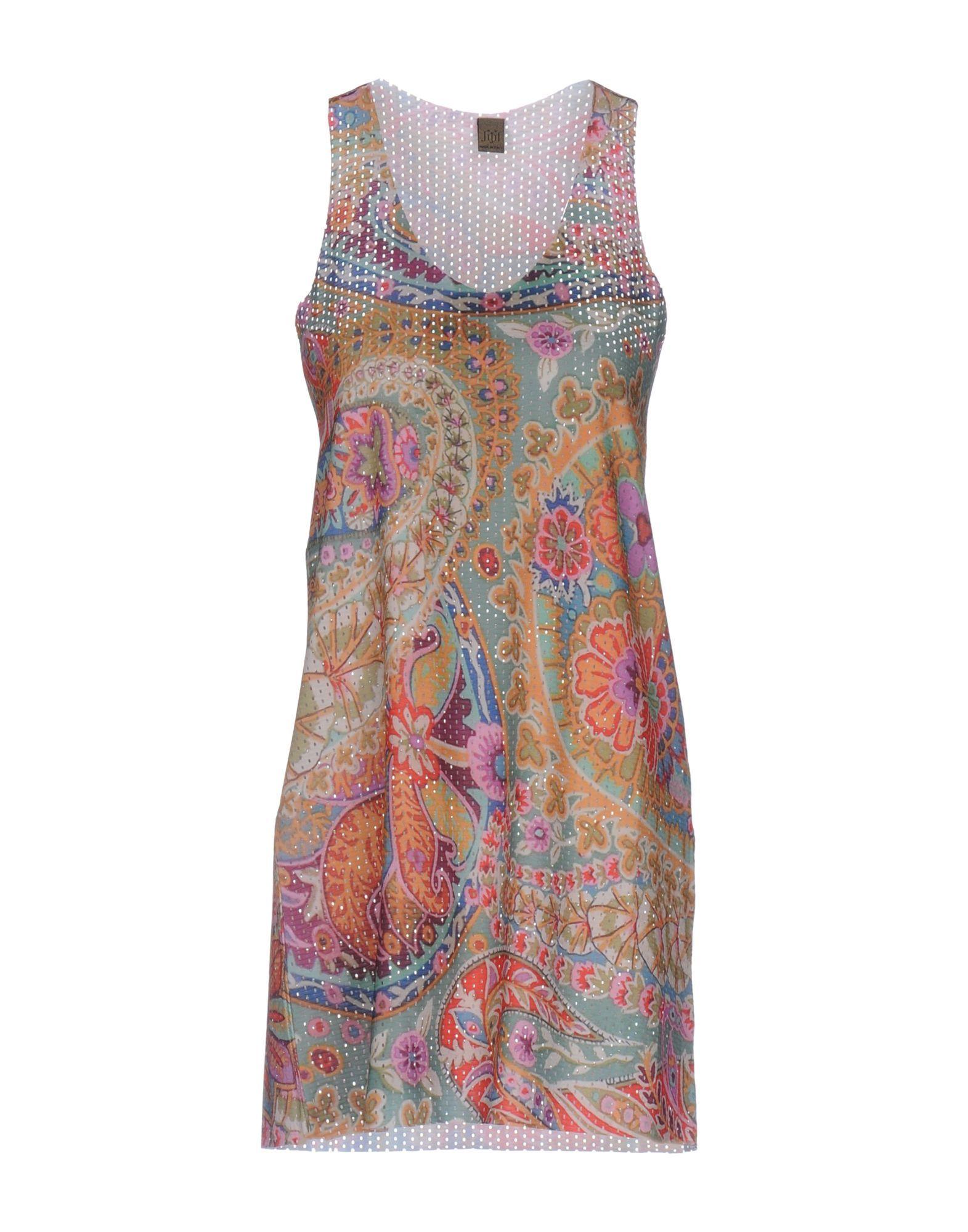 Jijil Ochre Floral Design Jersey Dress