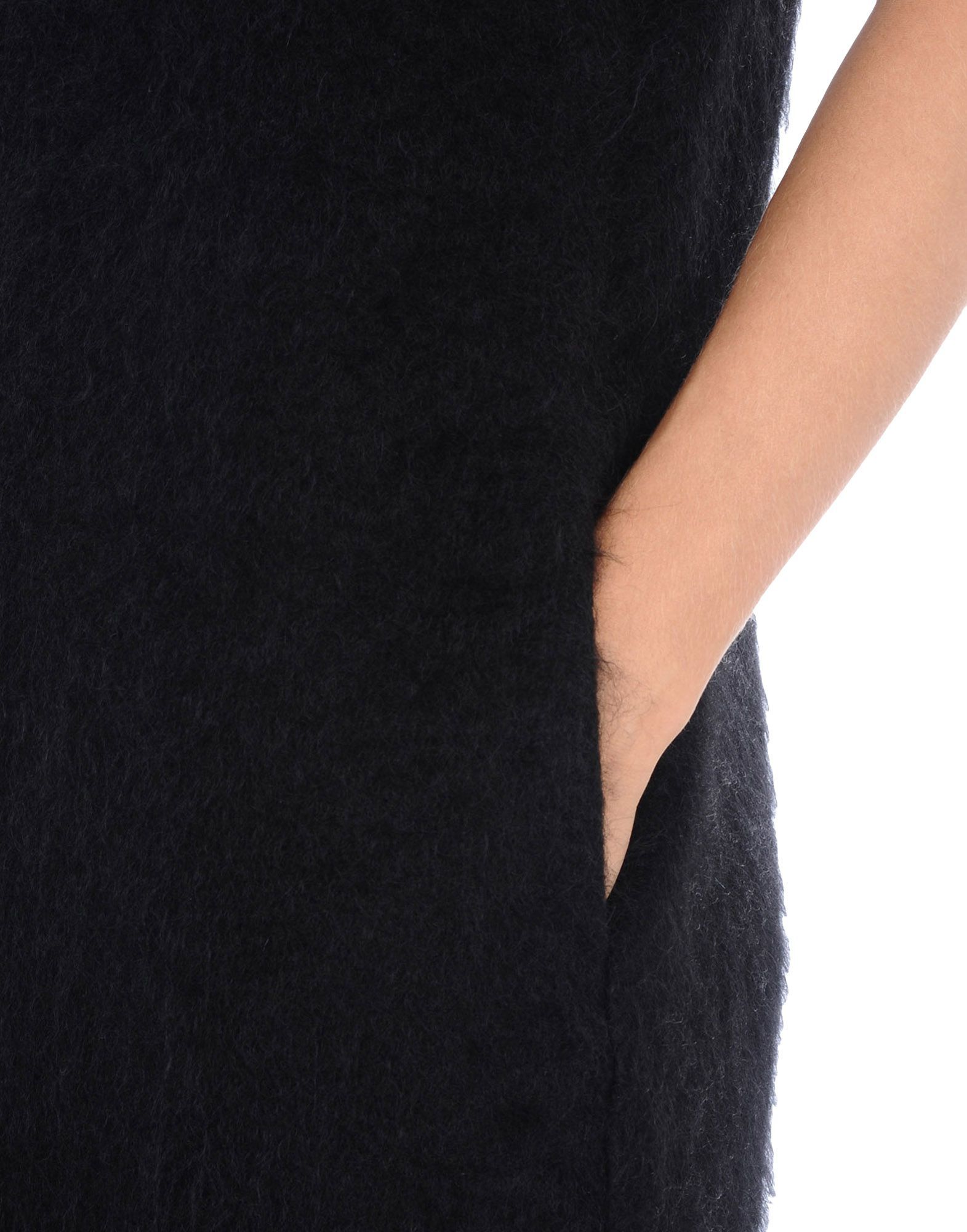 Jil Sander Black Mohair Wool Short Sleeve Dress