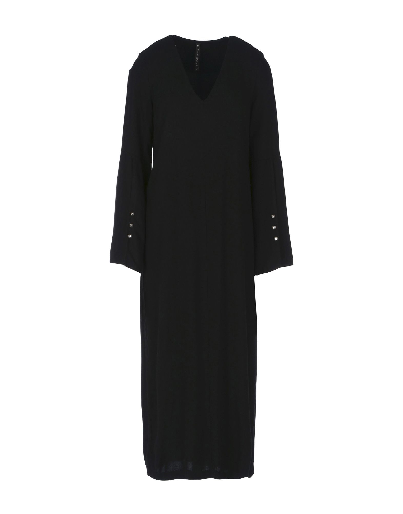 Manila Grace Black Long Sleeve Dress
