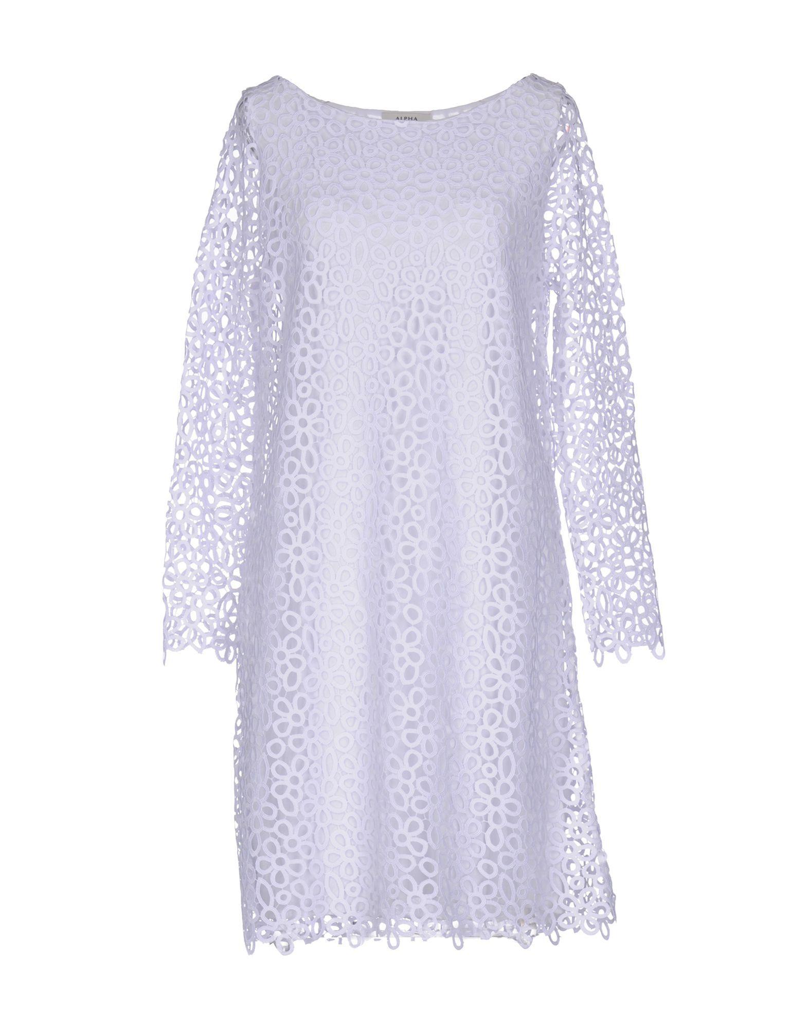 DRESSES Woman Alpha Studio White Polyester