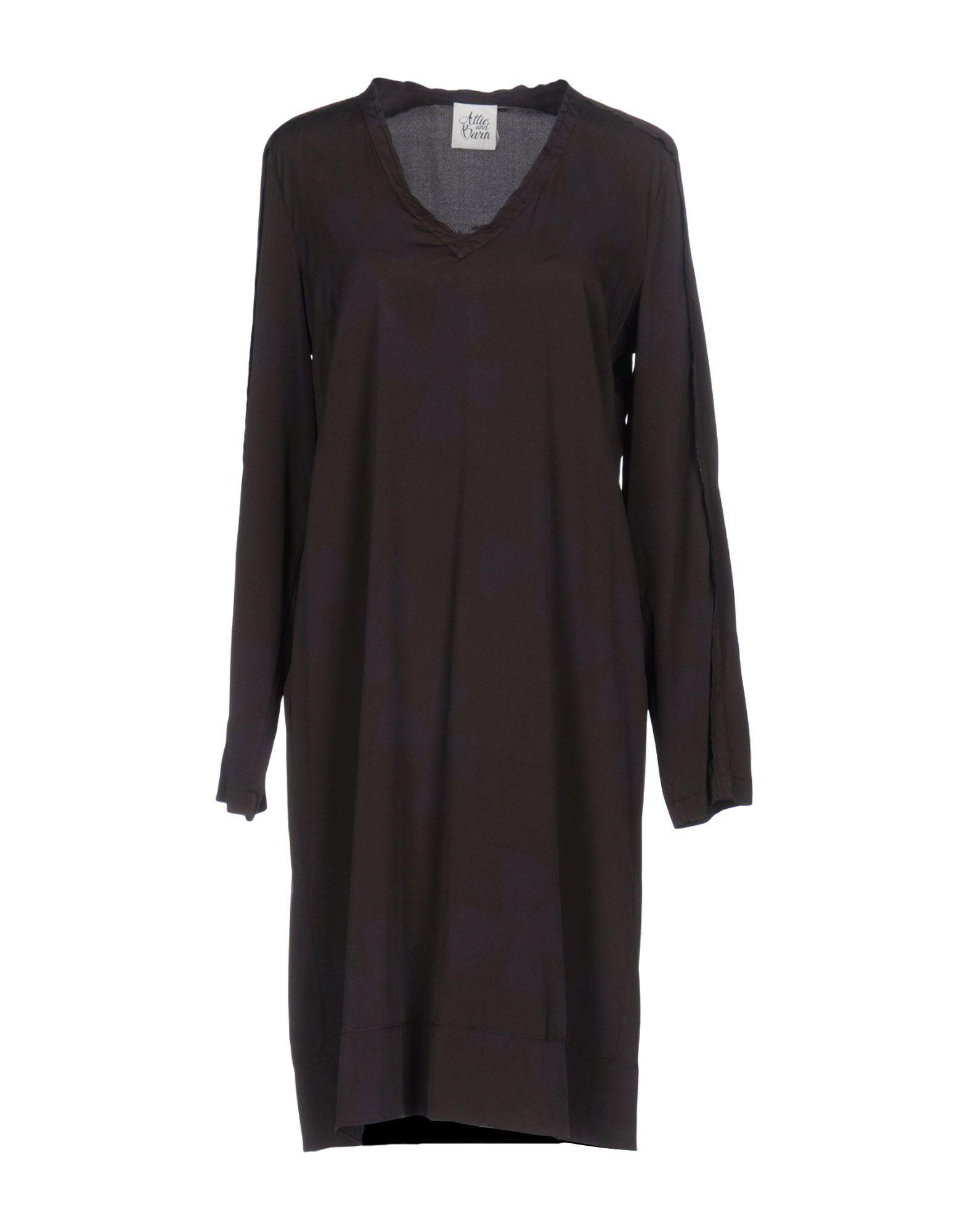 Dress Attic And Barn Dark Brown Women's Silk