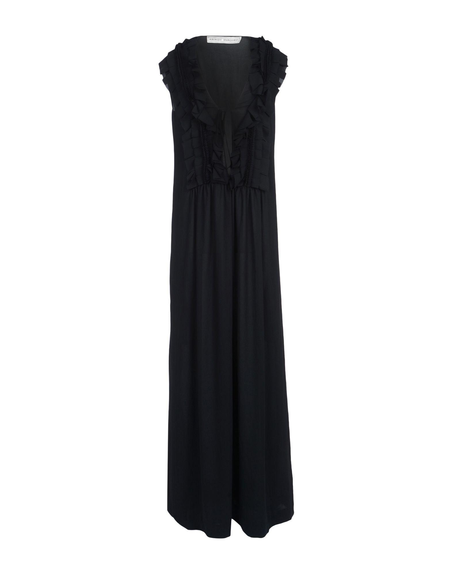 Veronique Branquinho Black Crepe Full Length Dress