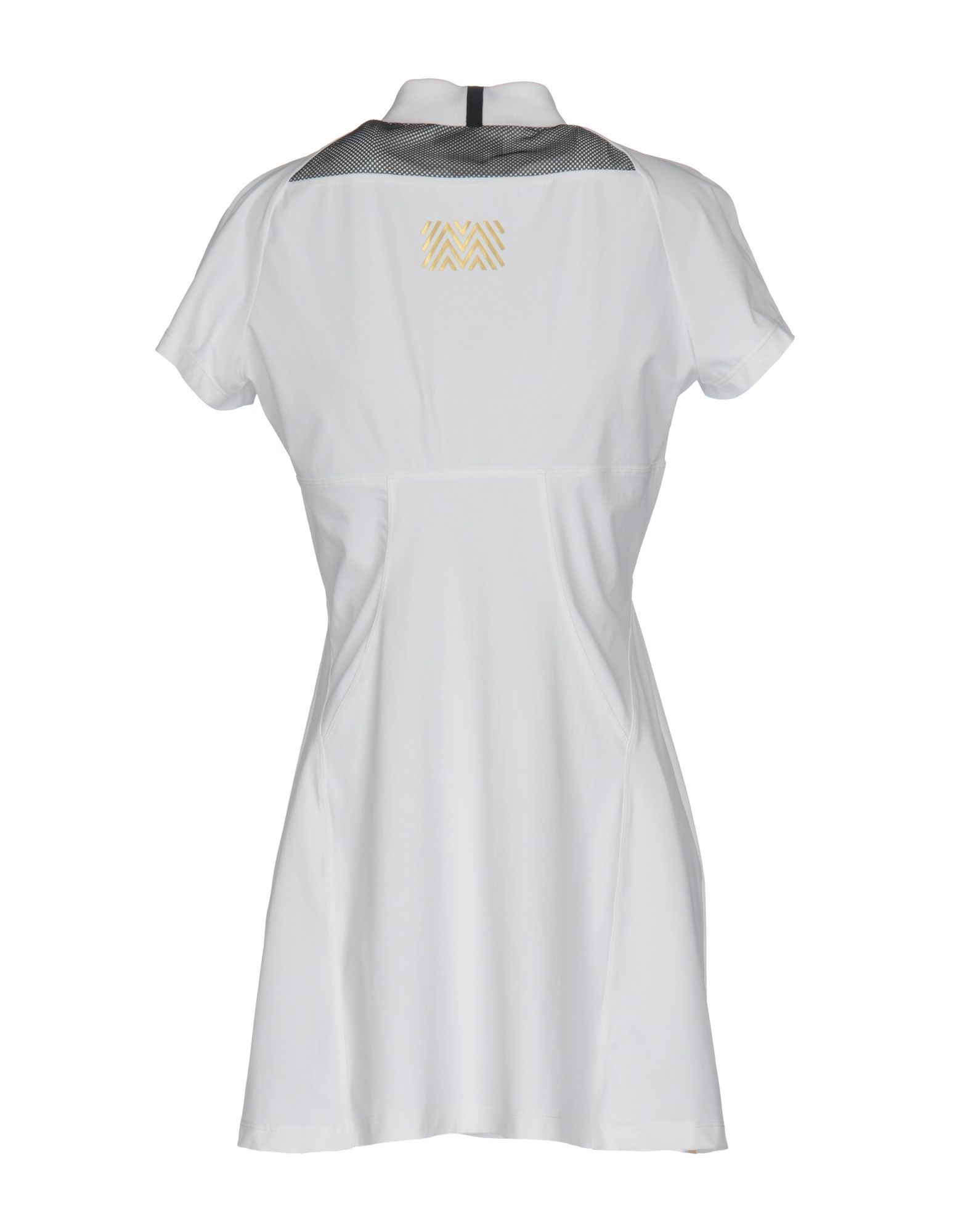 Monreal London White Techno Fabric Short Sleeve Tennis Dress