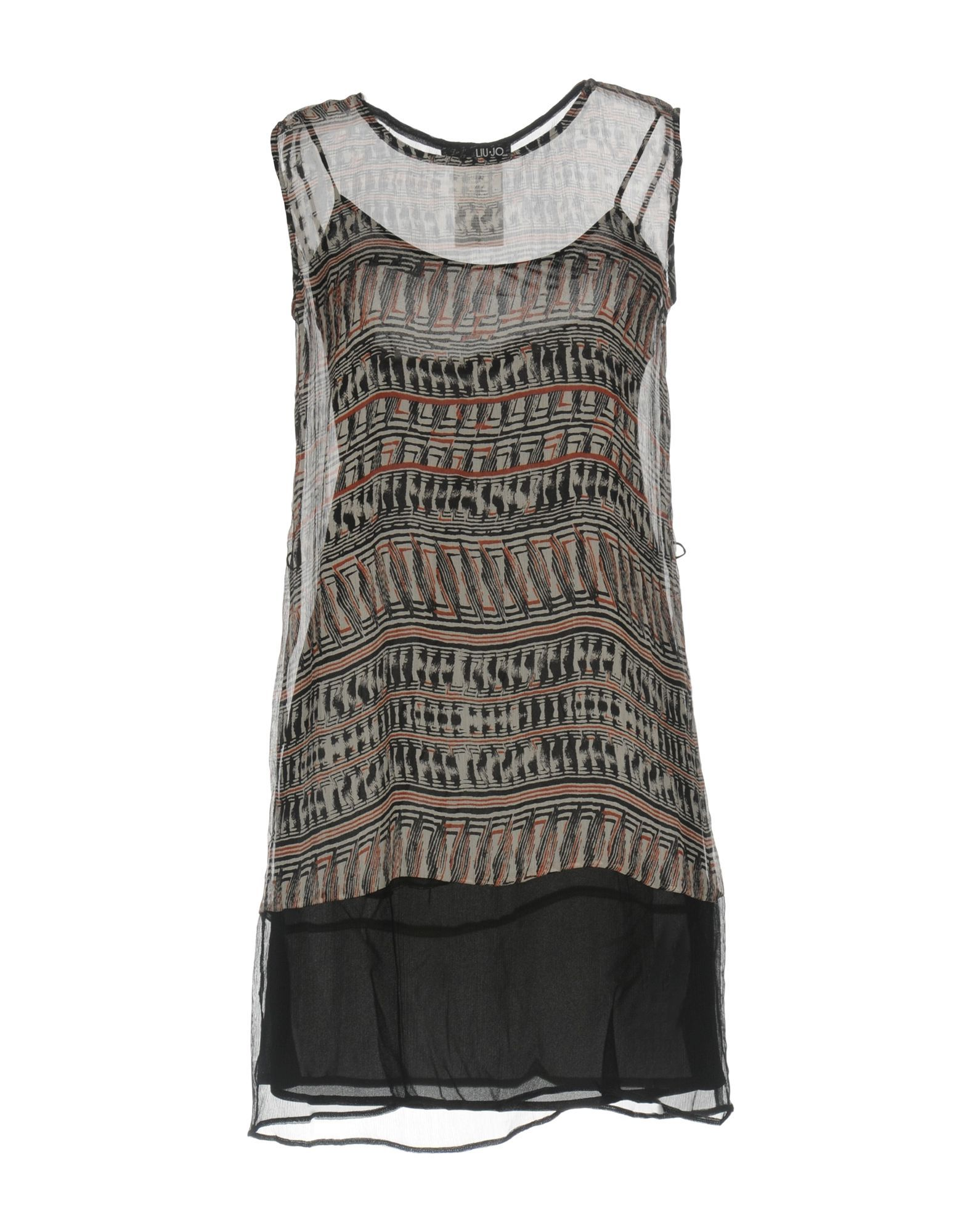 Liu Jo Black Silk Chiffon Sleeveless Dress