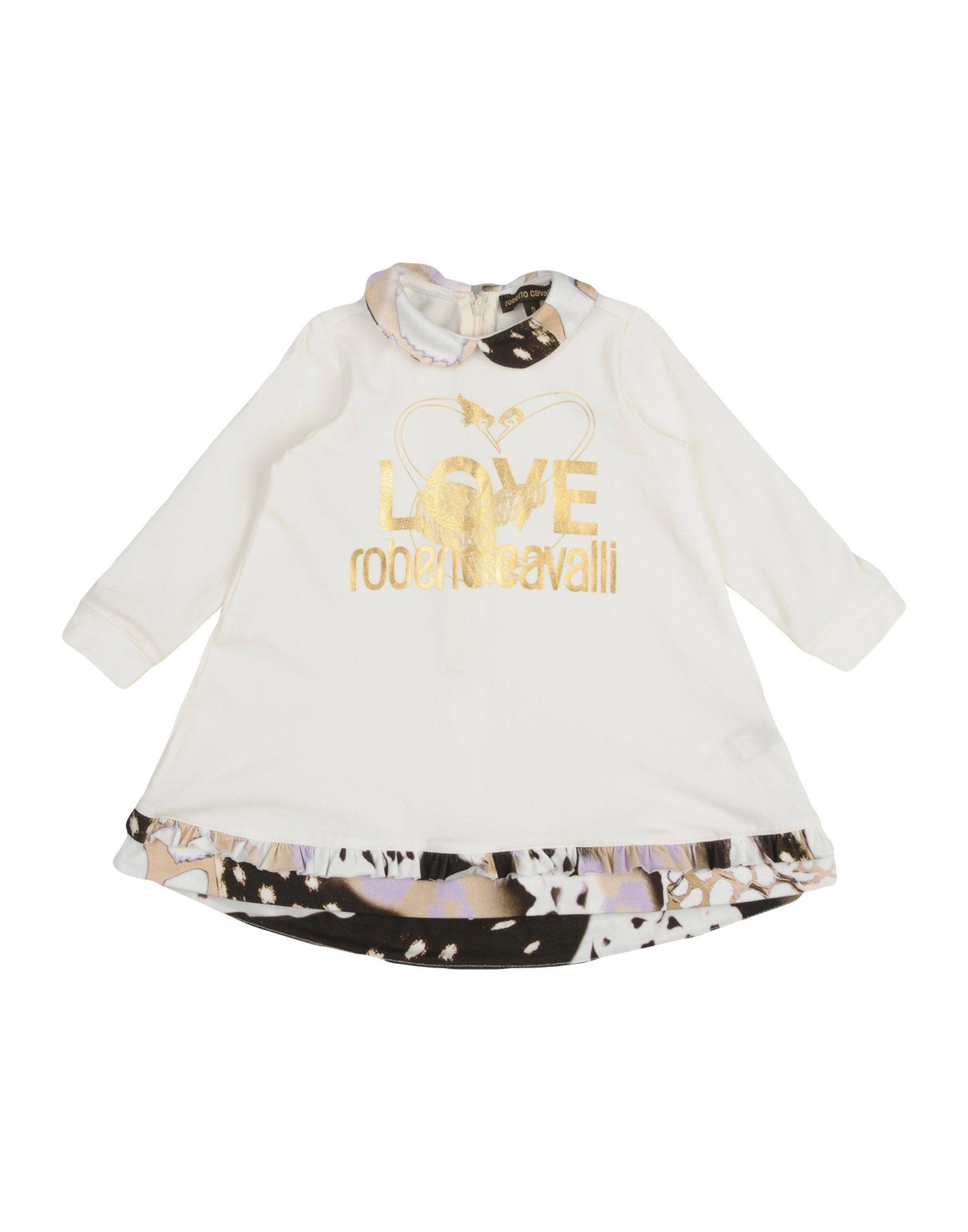 BODYSUITS & SETS Roberto Cavalli Junior Ivory Girl Cotton