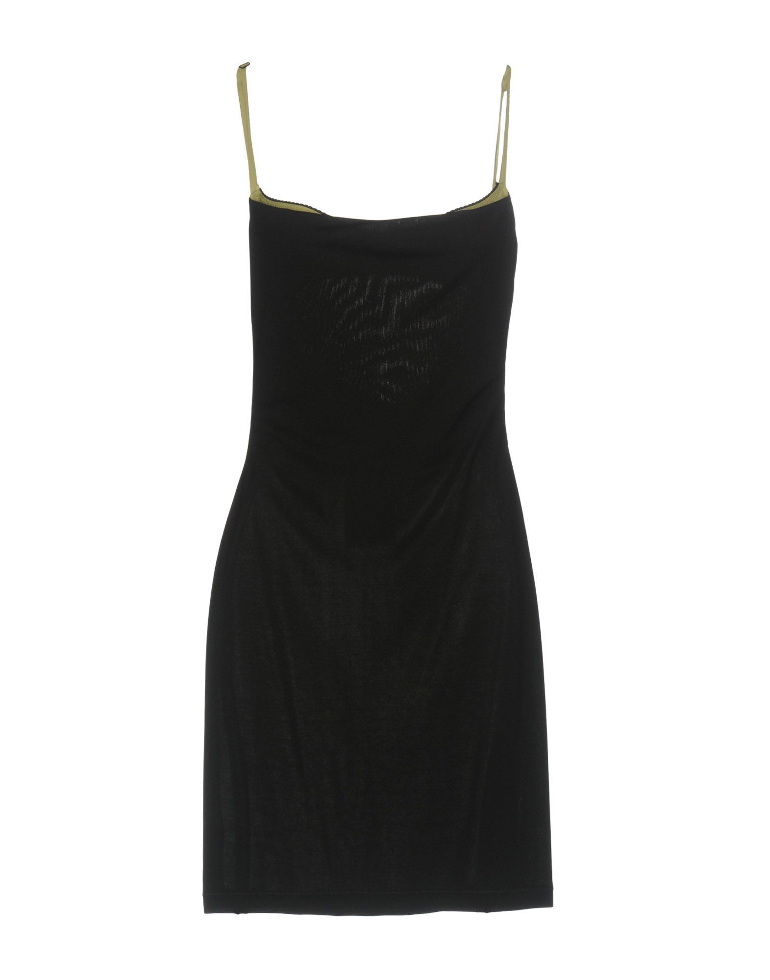 John Richmond Black Crepe Slip Dress