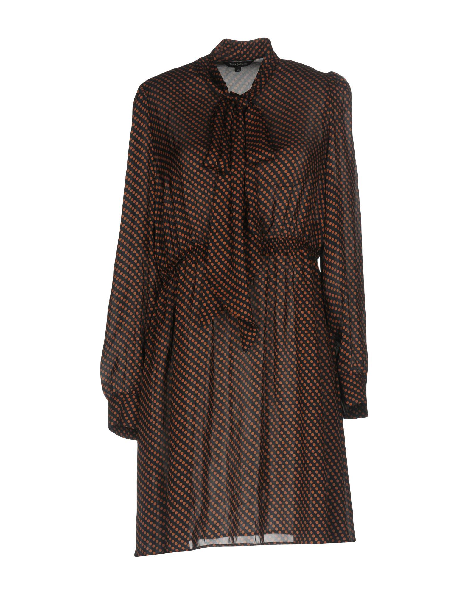 Tara Jarmon Polka Dot Satin Long Sleeve Dress