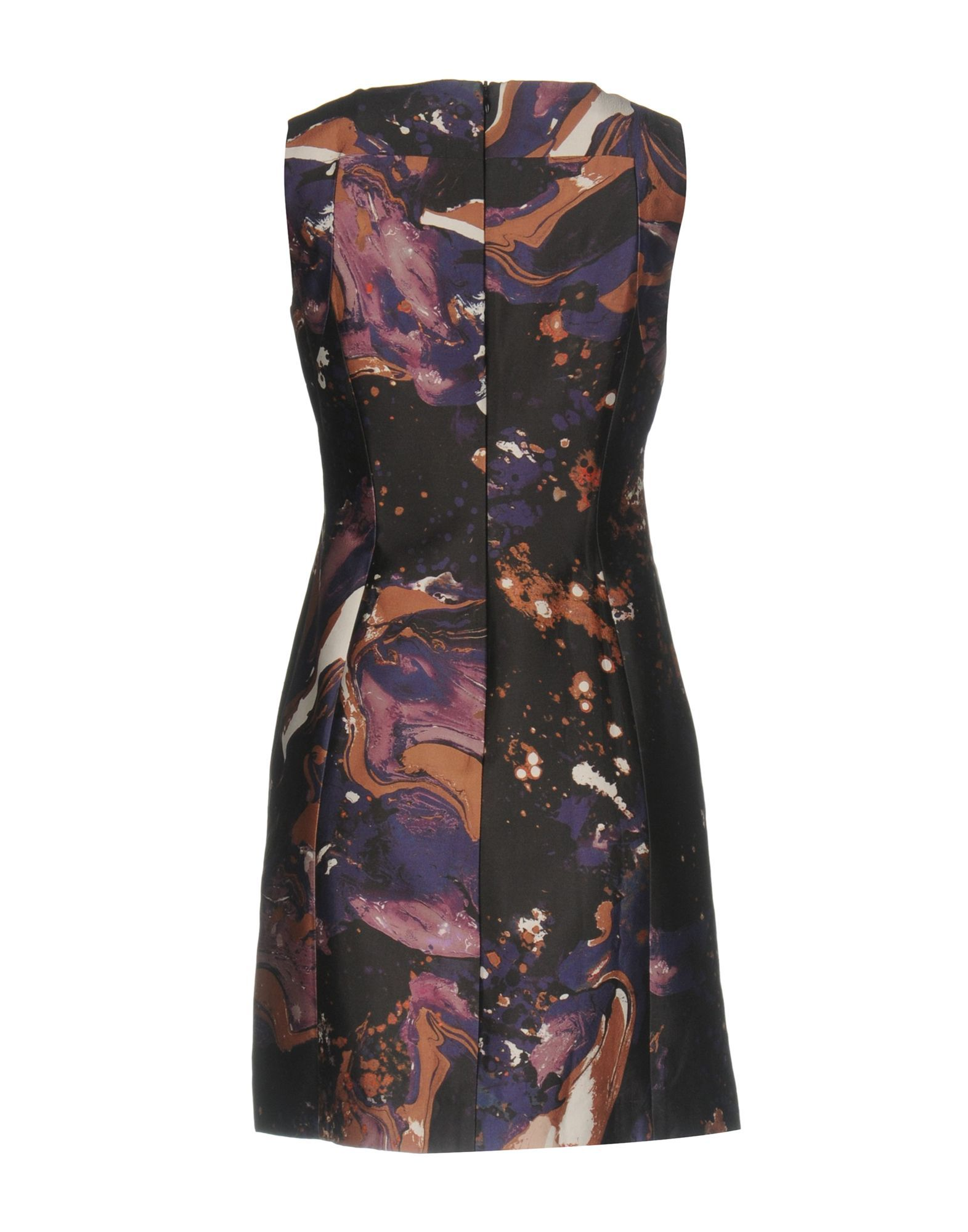 Karen Millen Purple Pattern Cotton Sleeveless Dress