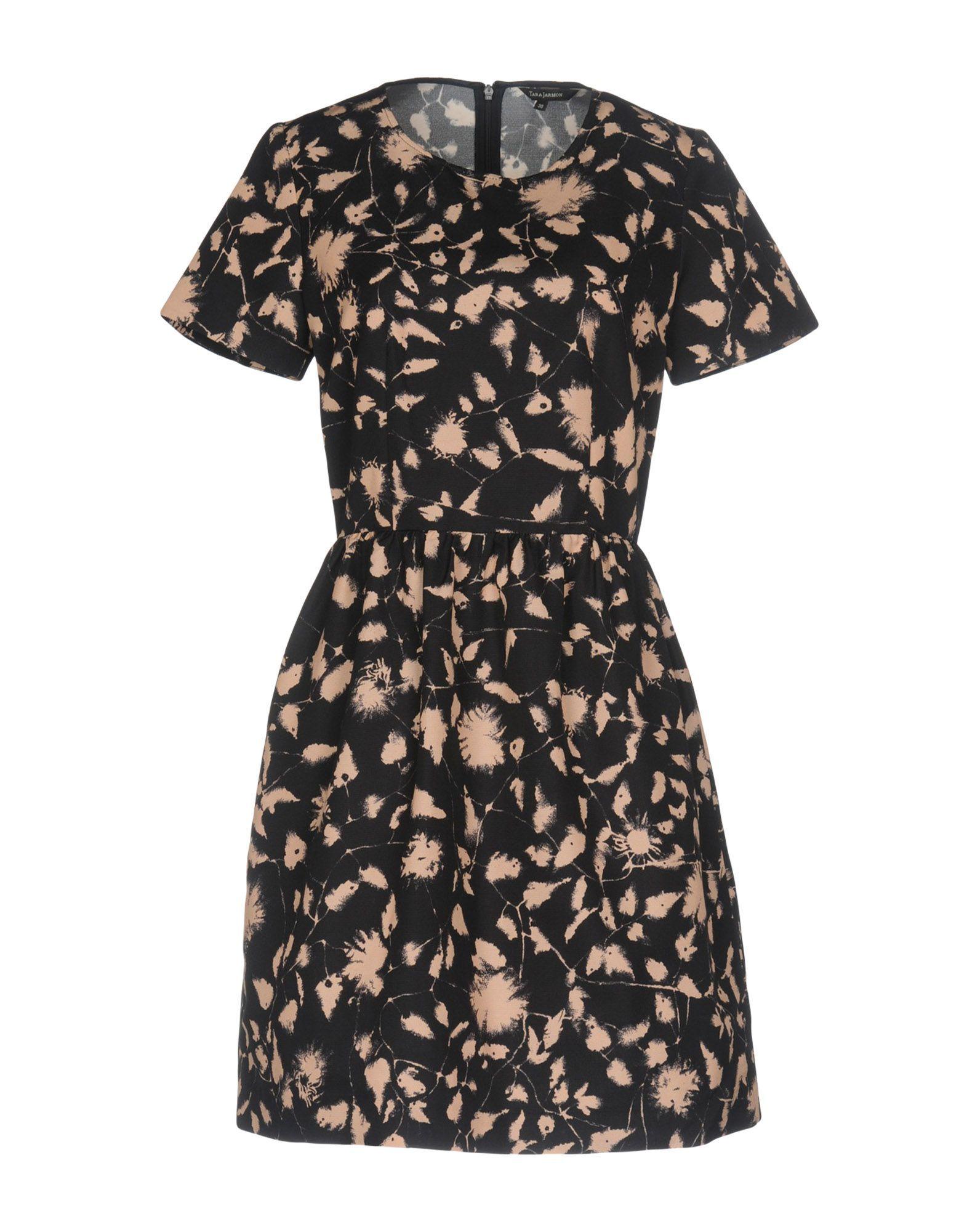 Tara Jarmon Dark Blue Cotton Jacquard Short Sleeve Dress