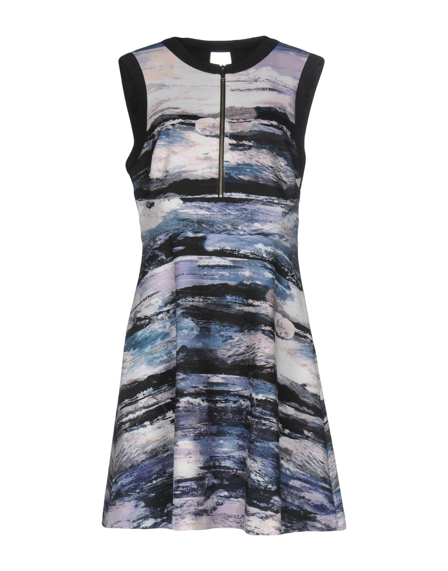 Karen Millen Purple Print Sleeveless Dress