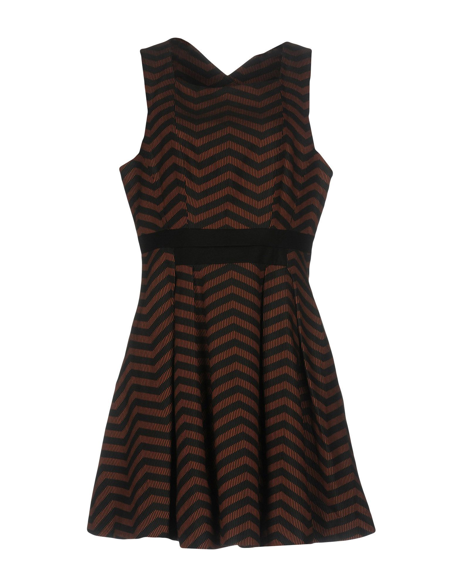 Karen Millen Brown Stripe Sleeveless Dress