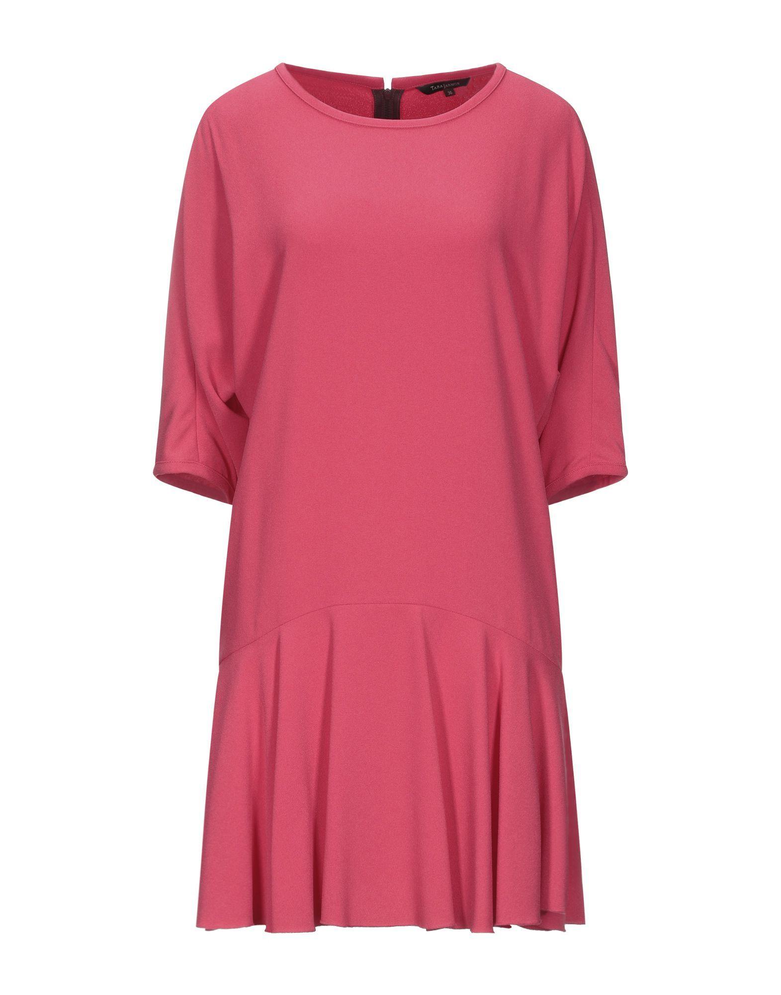 Tara Jarmon Fuchsia Crepe Dress