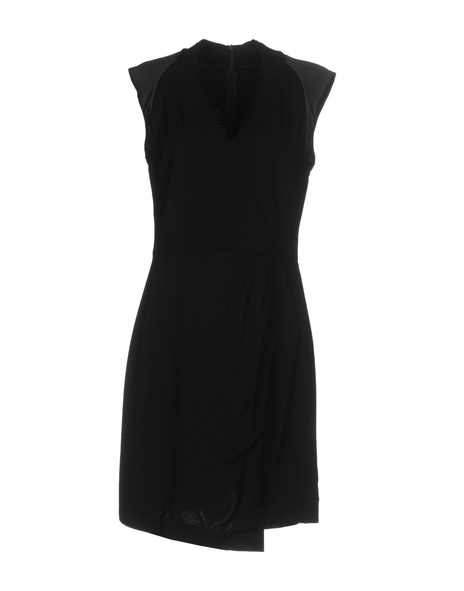 Tara Jarmon Black Crepe Sleeveless Dress