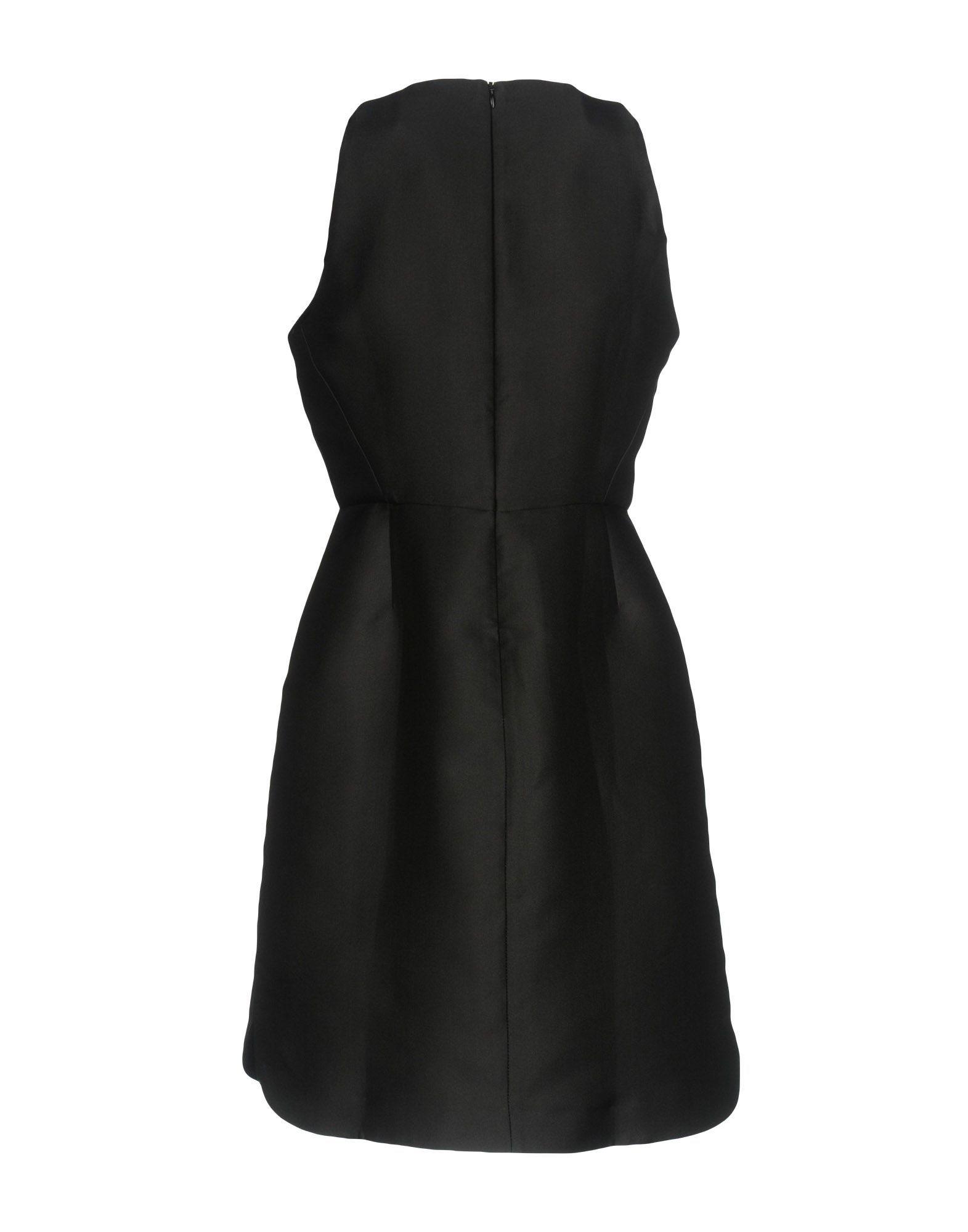 Tara Jarmon Black Satin Embellished Sleeveless Dress