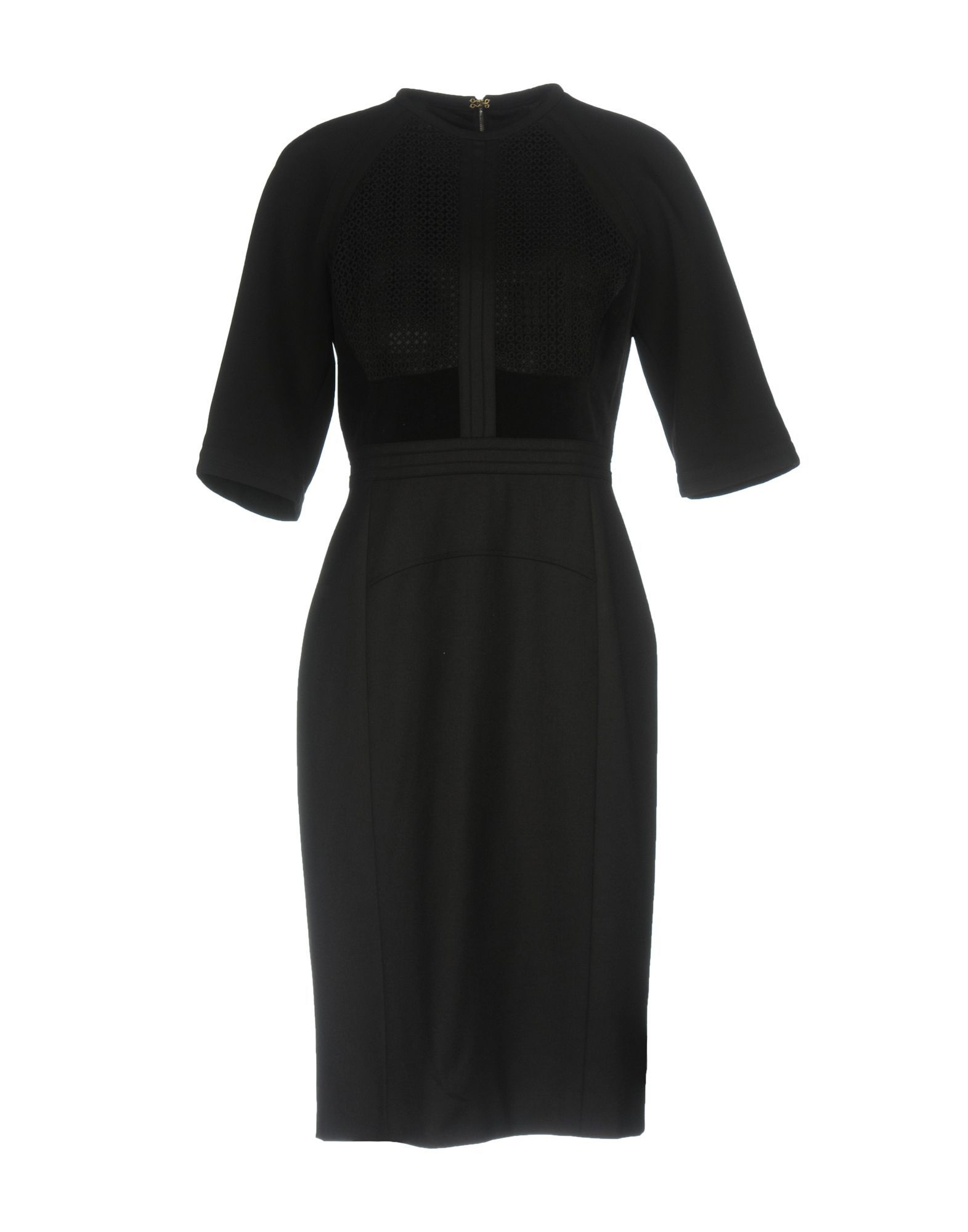 Elie Saab Black Virgin Wool Dress With Three Quarter Length Sleeves
