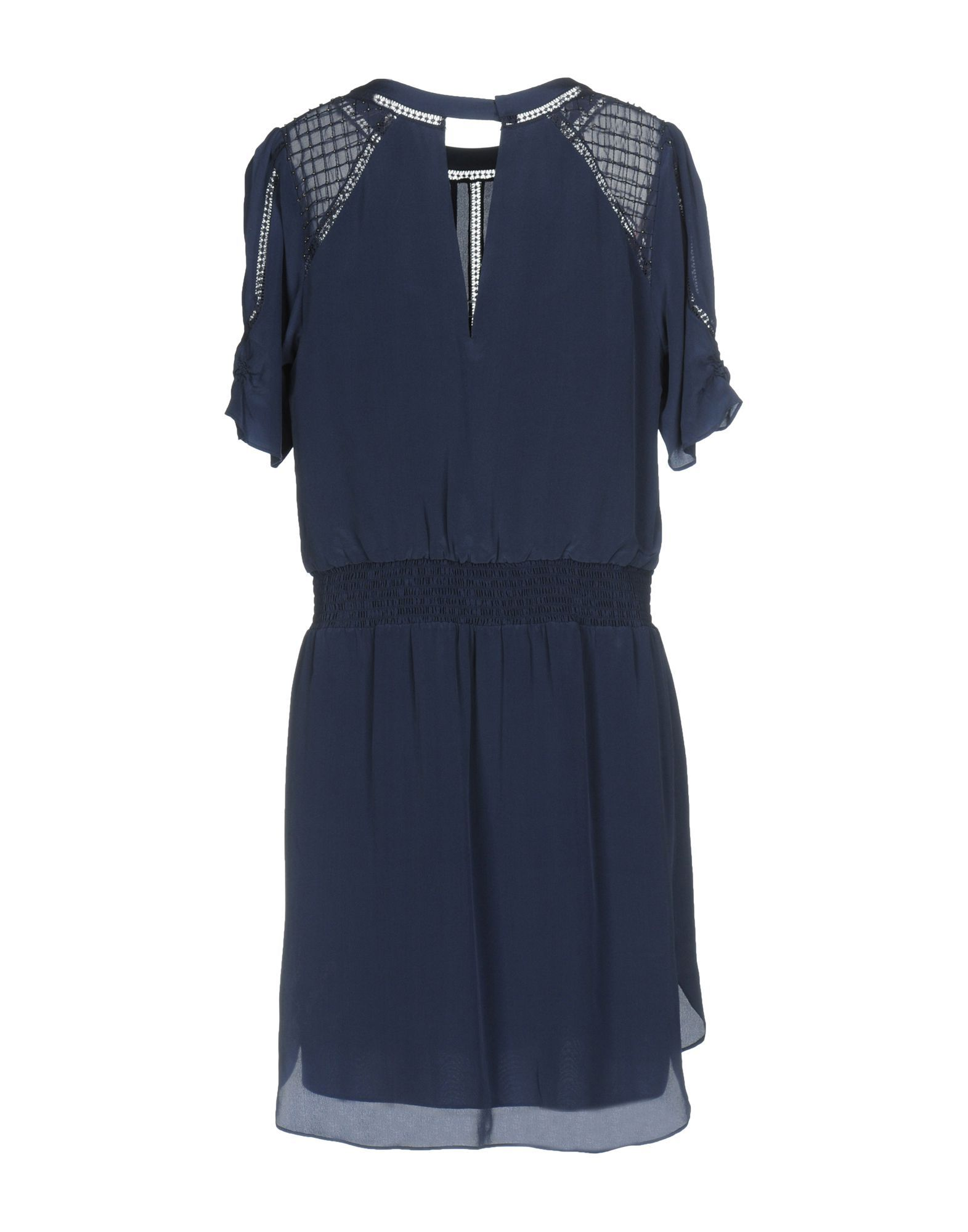 Karen Millen Dark Blue Silk Short Sleeve Dress