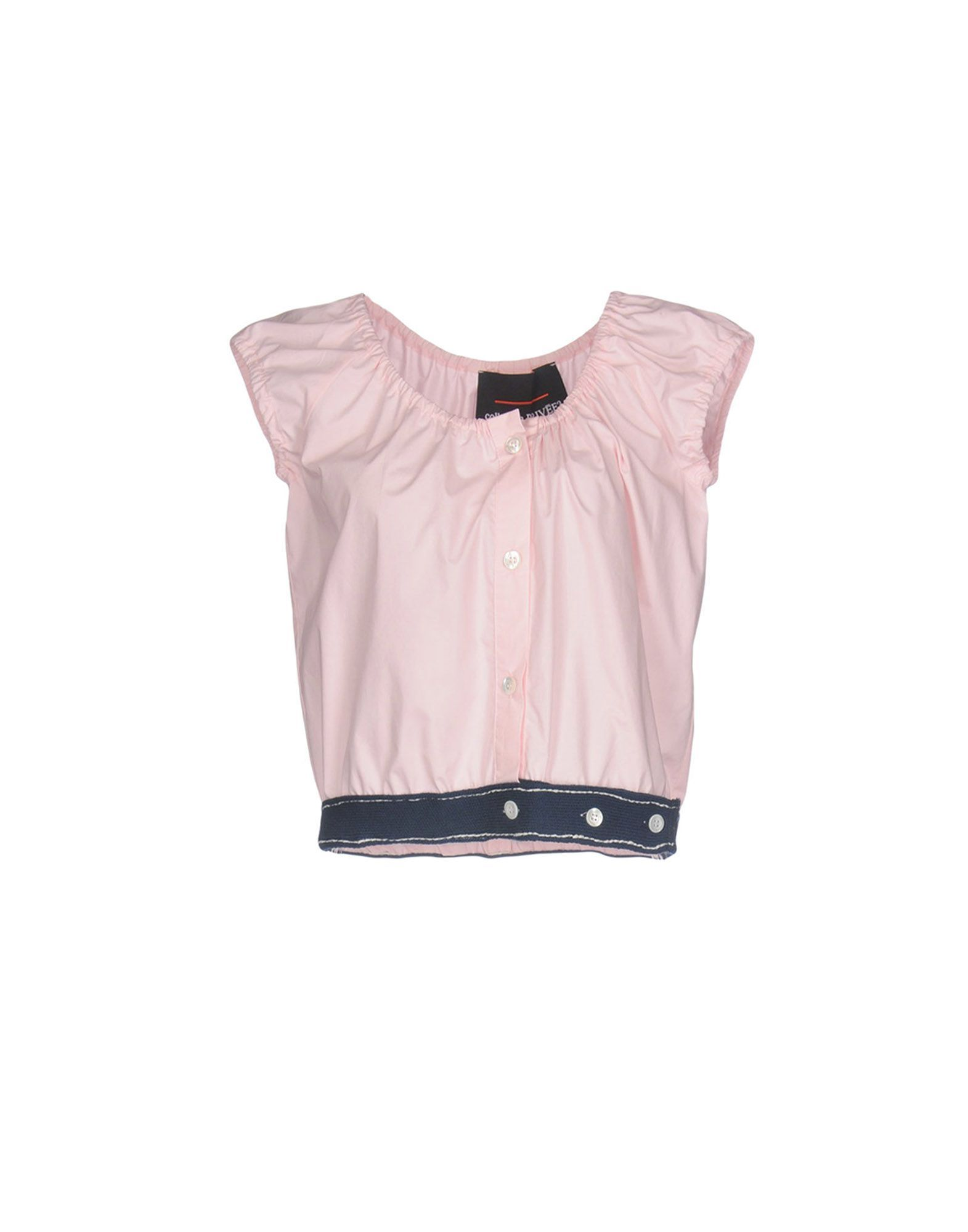 Collection Privee? Pink Cotton Cropped Blouse