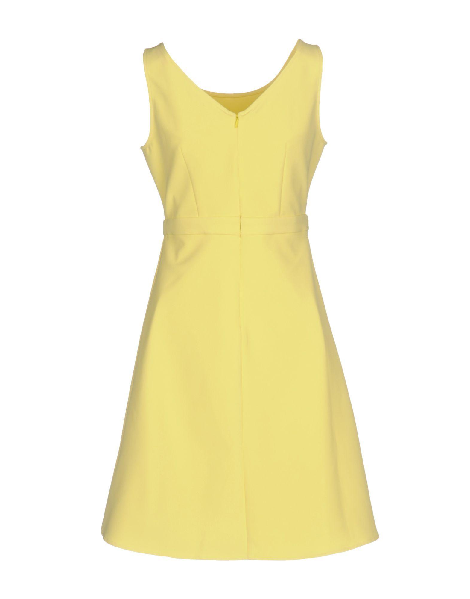 Blugirl Blumarine Yellow Crepe Dress